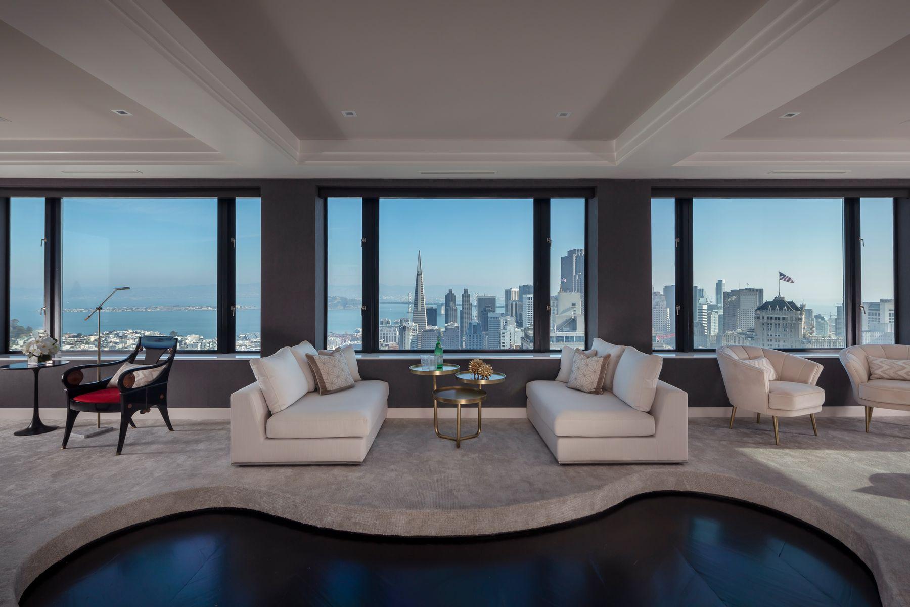 Condominiums por un Venta en 360 Degree View Nob Hill Penthouse 1250 Jones St Penthouse 1901 San Francisco, California 94109 Estados Unidos