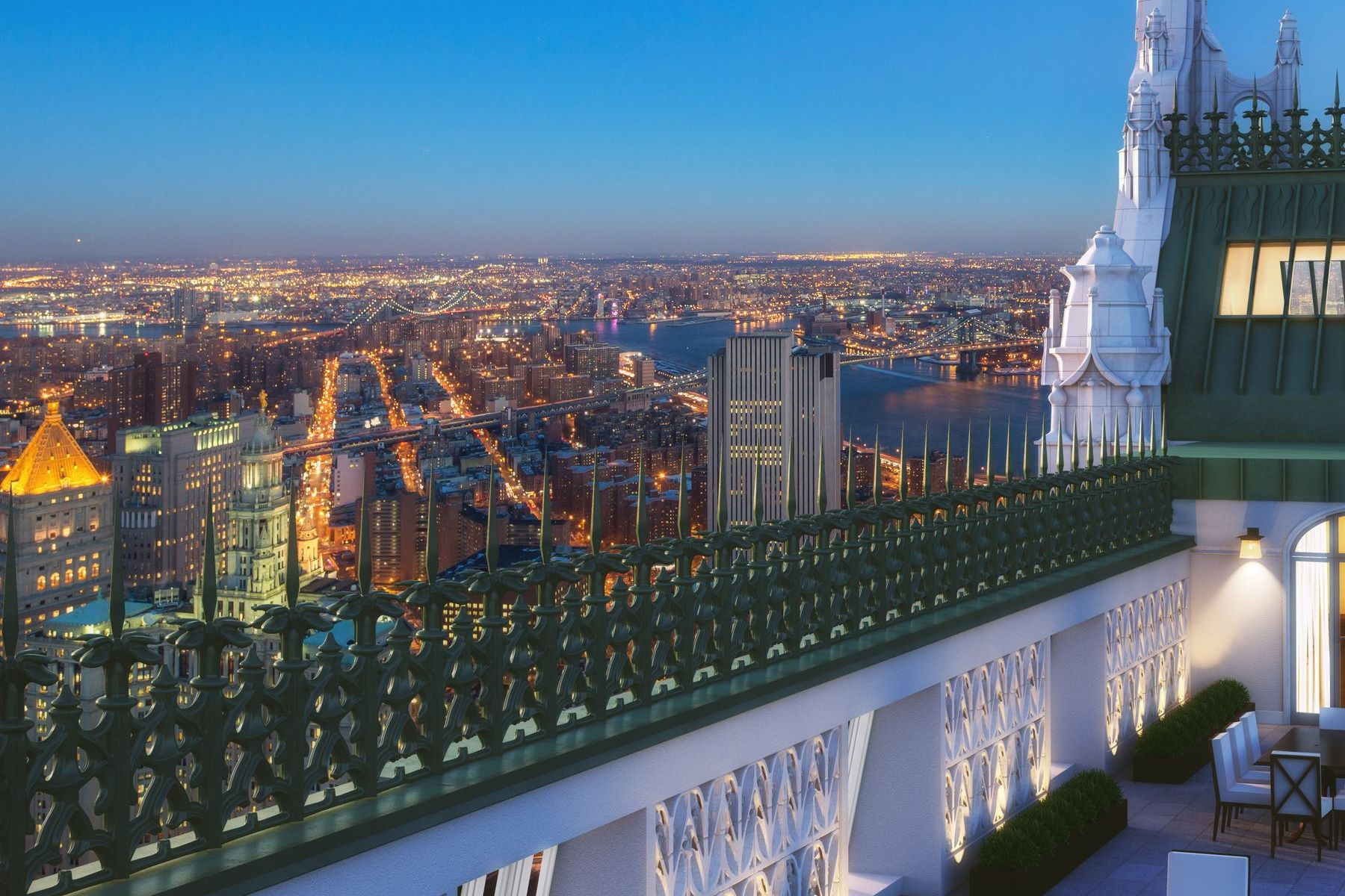 Condominiums для того Продажа на Woolworth Tower Residences - Pavilion A 2 Park Place Apt Pavilion A, New York, Нью-Йорк 10007 Соединенные Штаты