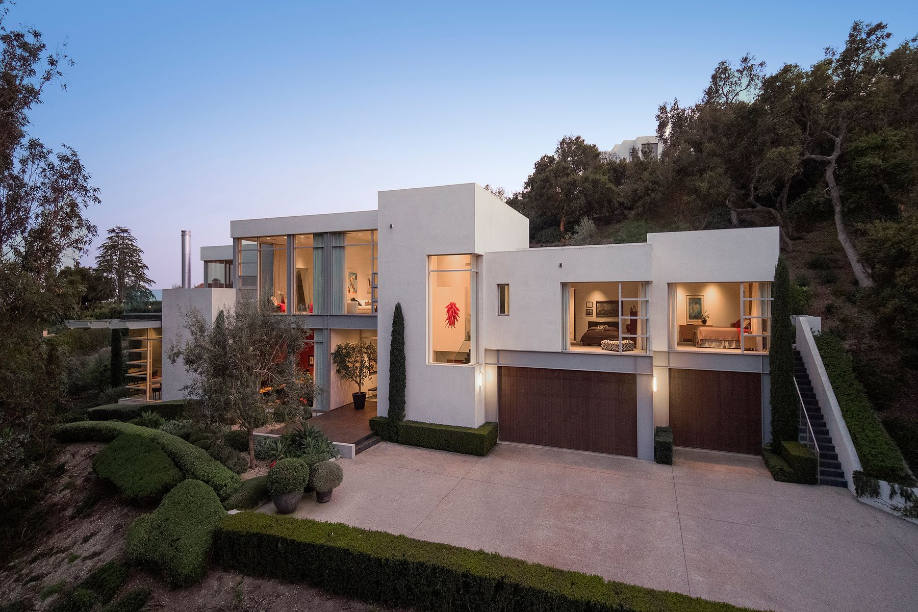Single Family Homes for Sale at Contemporary Masterpiece in Montecito 396 Woodley Road Montecito, California 93108 United States