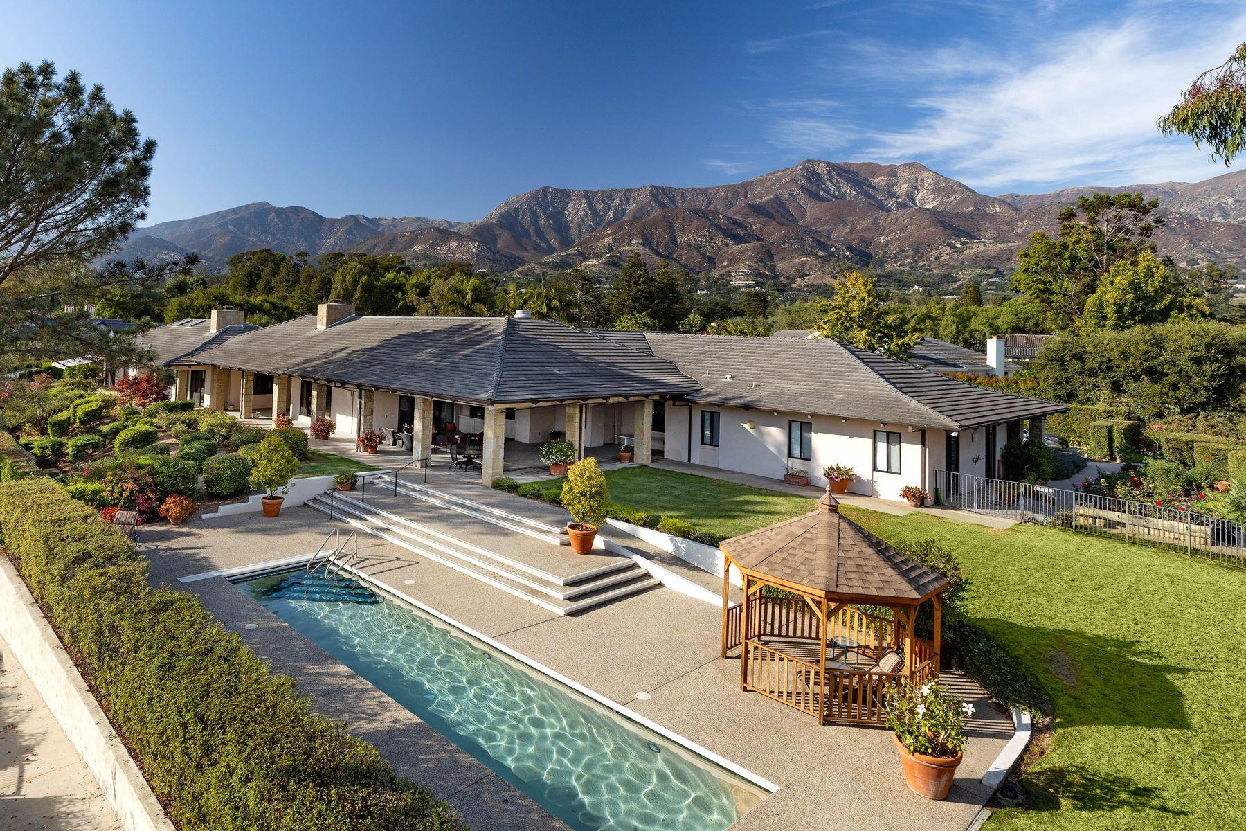 Single Family Homes for Sale at Premier Birnam Wood Golf Club Home 1185 Fife Lane Montecito, California 93108 United States