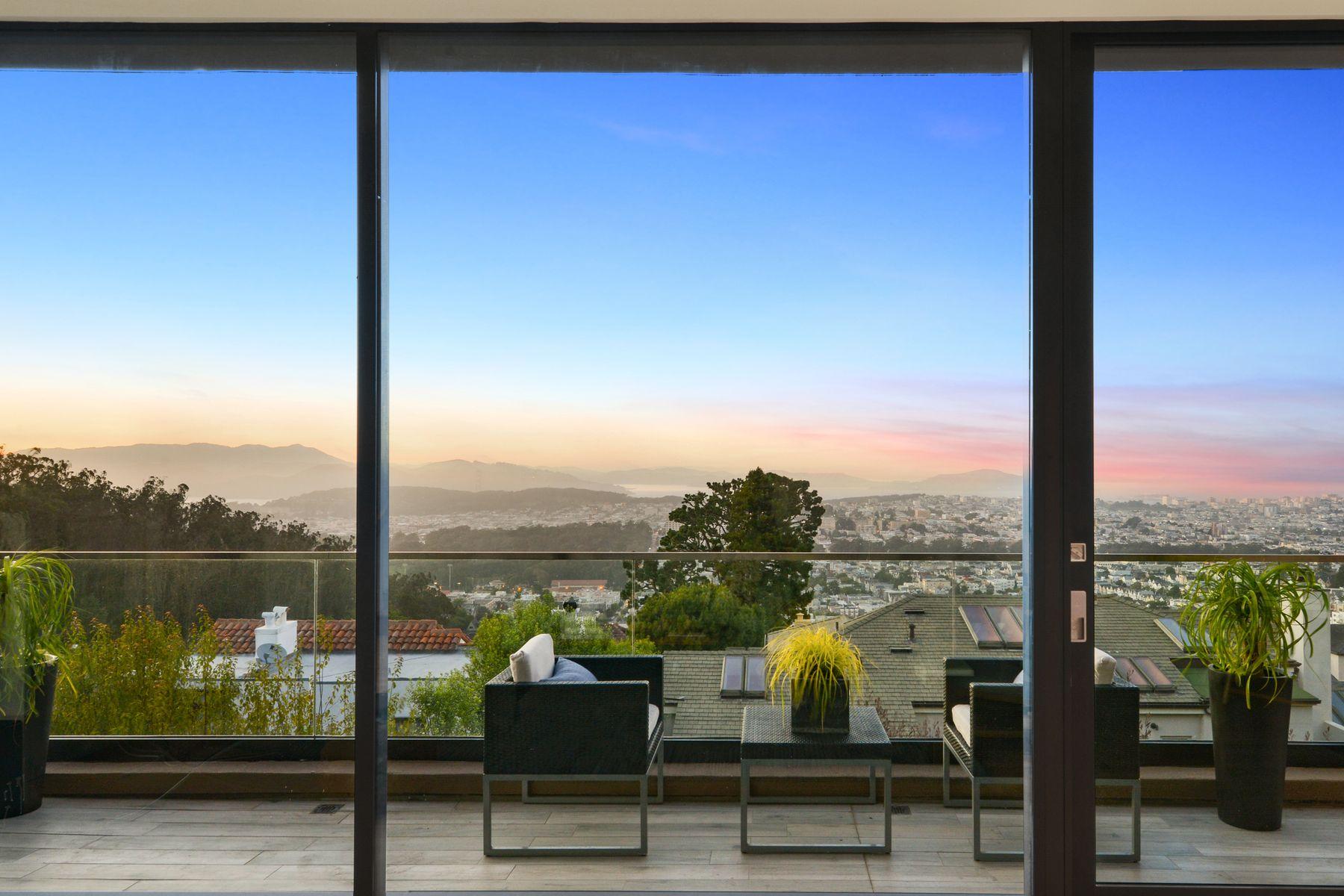 Single Family Homes por un Venta en Unobstructed Panoramic Views 100 Saint Germain Ave San Francisco, California 94114 Estados Unidos