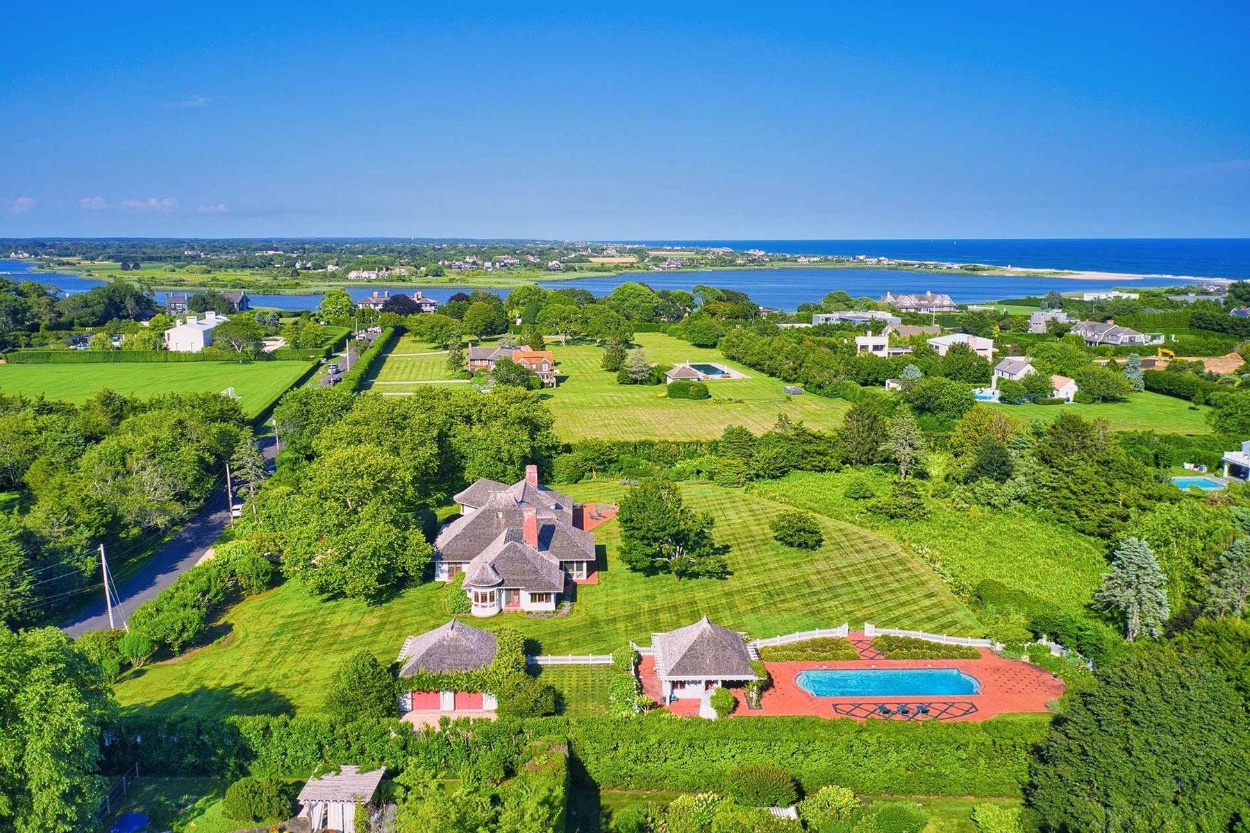 Single Family Homes 為 出售 在 Majestic 3+/- Acre Estate on Quimby Lane 111 Quimby Lane, Bridgehampton, 纽约 11932 美國