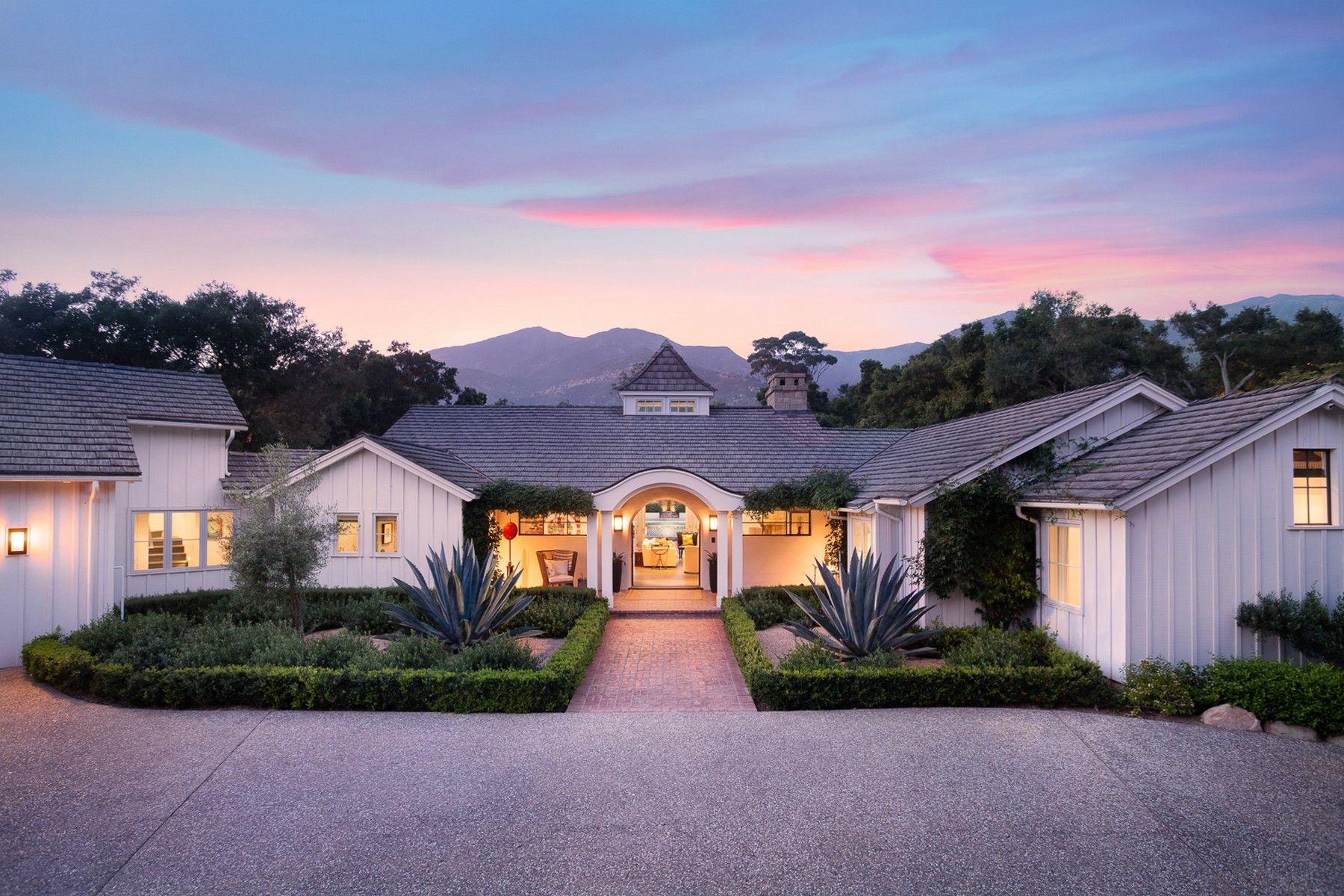 Single Family Homes for Sale at Modern Montecito Farmhouse 645 El Bosque Road Santa Barbara, California 93108 United States