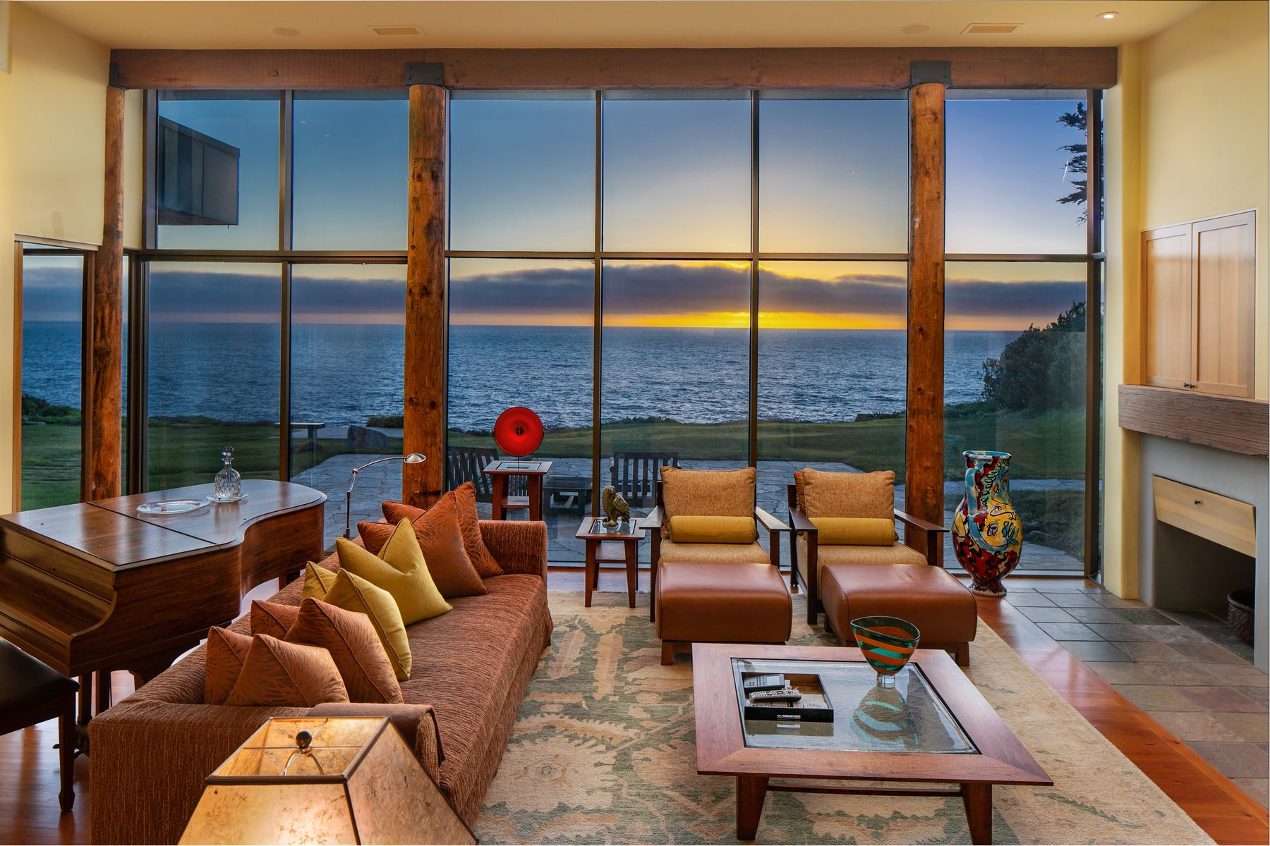 Single Family Homes for Sale at Modern Oceanfront Hideaway 36648 Highway 1 Carmel Highlands, California 93940 United States