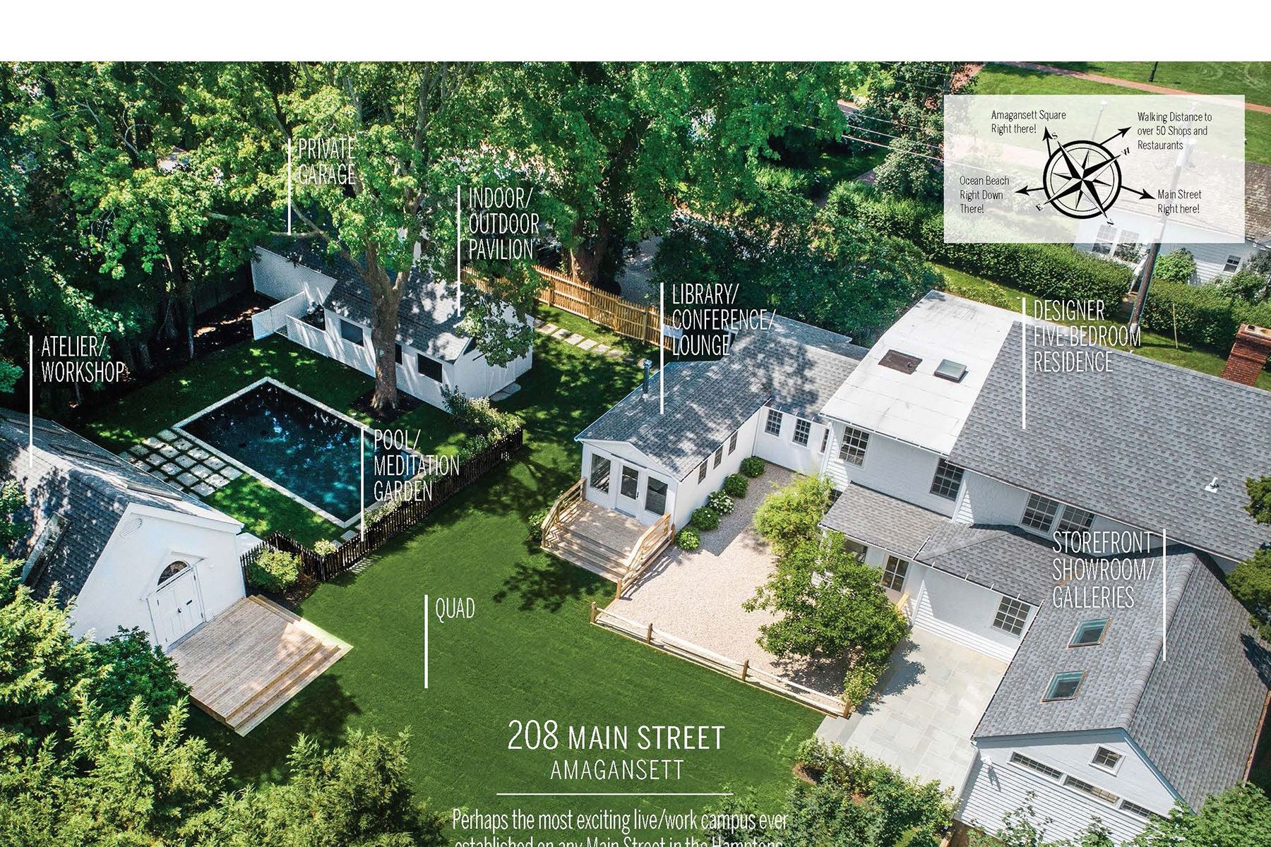 Single Family Homes for Sale at In-Town Amg Live/Work Campus with Pool 208 Main Street Amagansett, New York 11930 United States