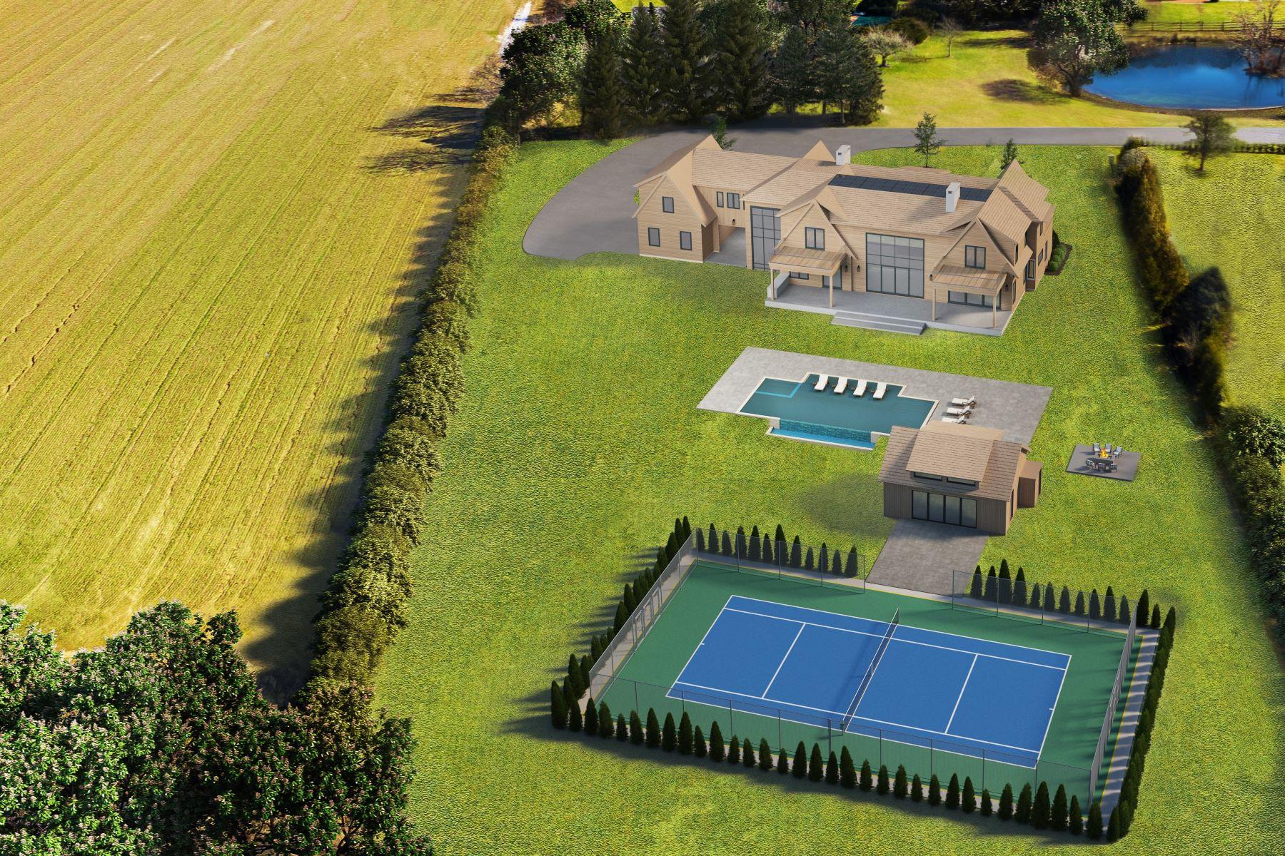 Single Family Homes for Sale at Modern New Construction,Field&Pond Views 65 Ellen Court Bridgehampton, New York 11932 United States