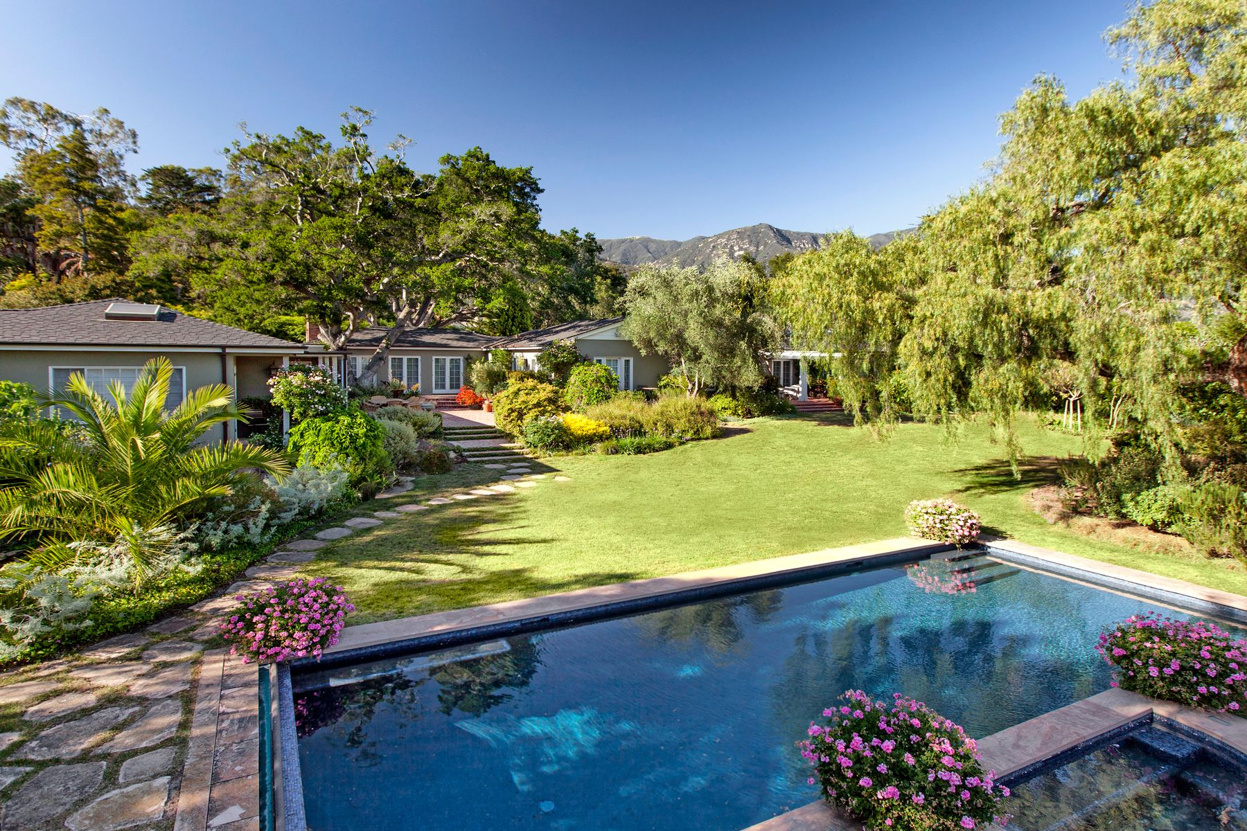 Single Family Homes for Sale at Enchanting Traditional Estate 1422 East Valley Road Montecito, California 93108 United States