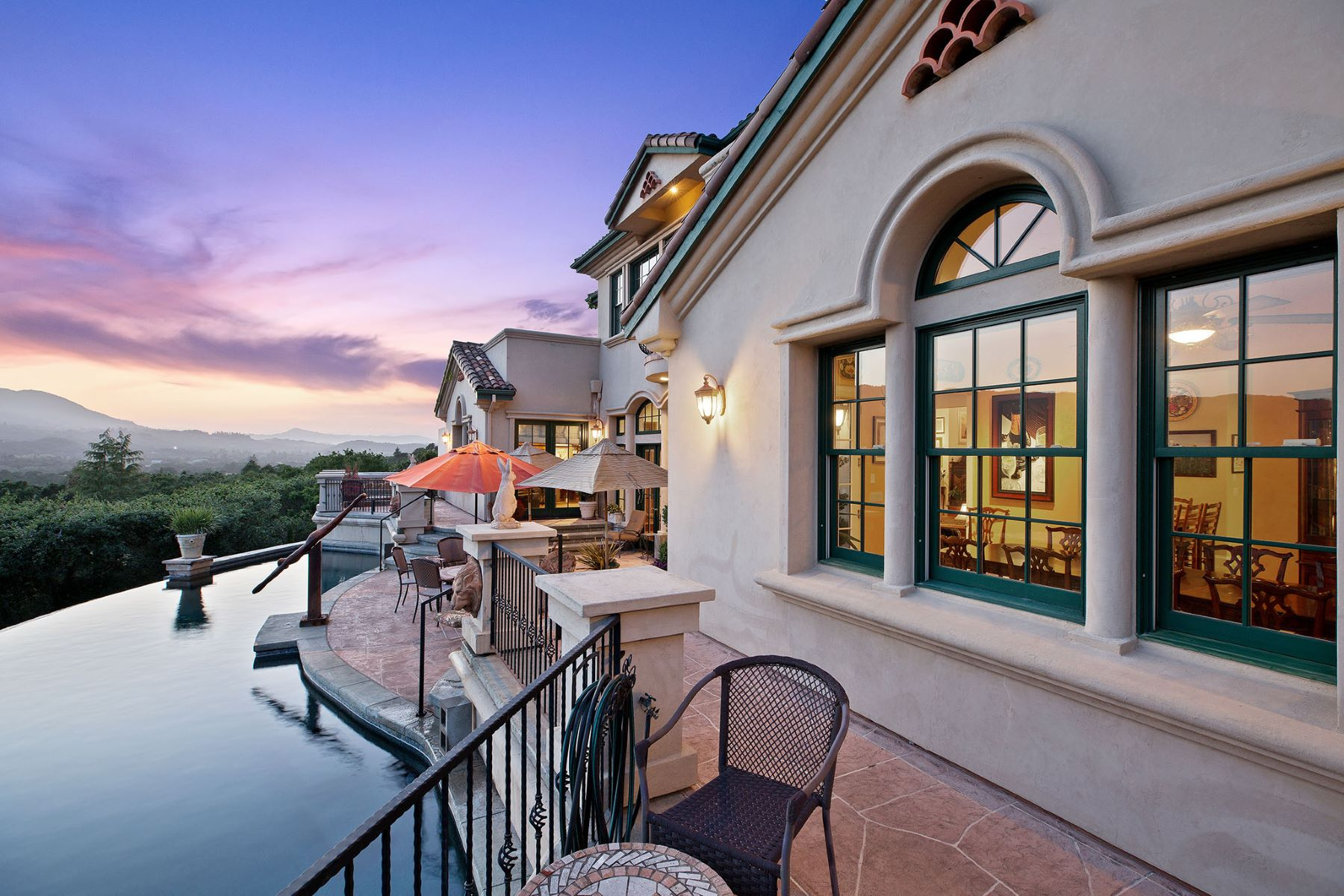 Single Family Homes for Active at Mediterranean Villa With Sweeping Views 405 London Way Sonoma, California 95476 United States