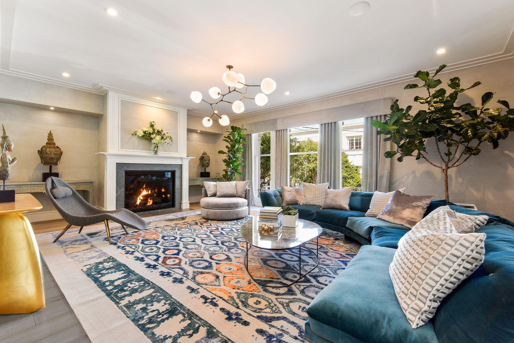 Single Family Homes por un Venta en Neo-Classical Pacific Heights Residence San Francisco, California 94115 Estados Unidos