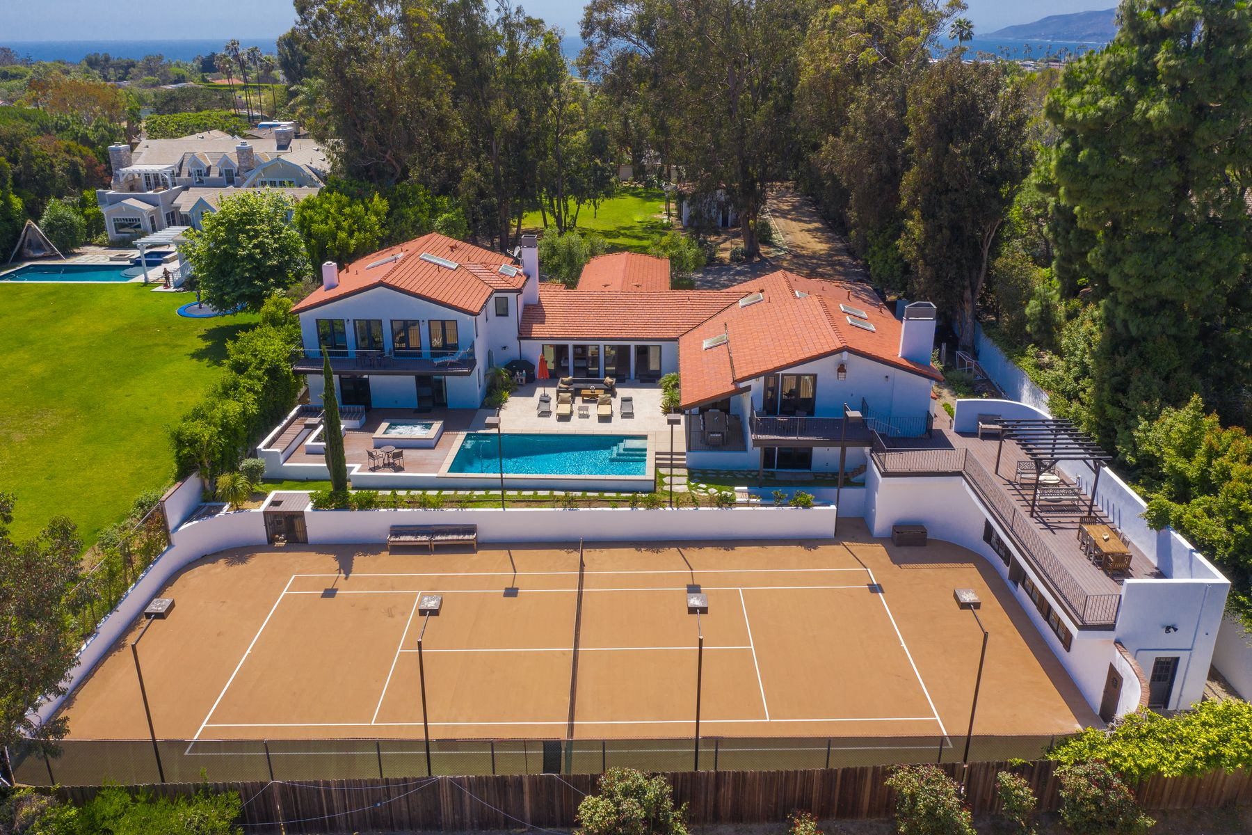 Single Family Homes for Sale at Ocean View Point Dume Tennis Estate 6930 Dume Drive Malibu, California 90265 United States