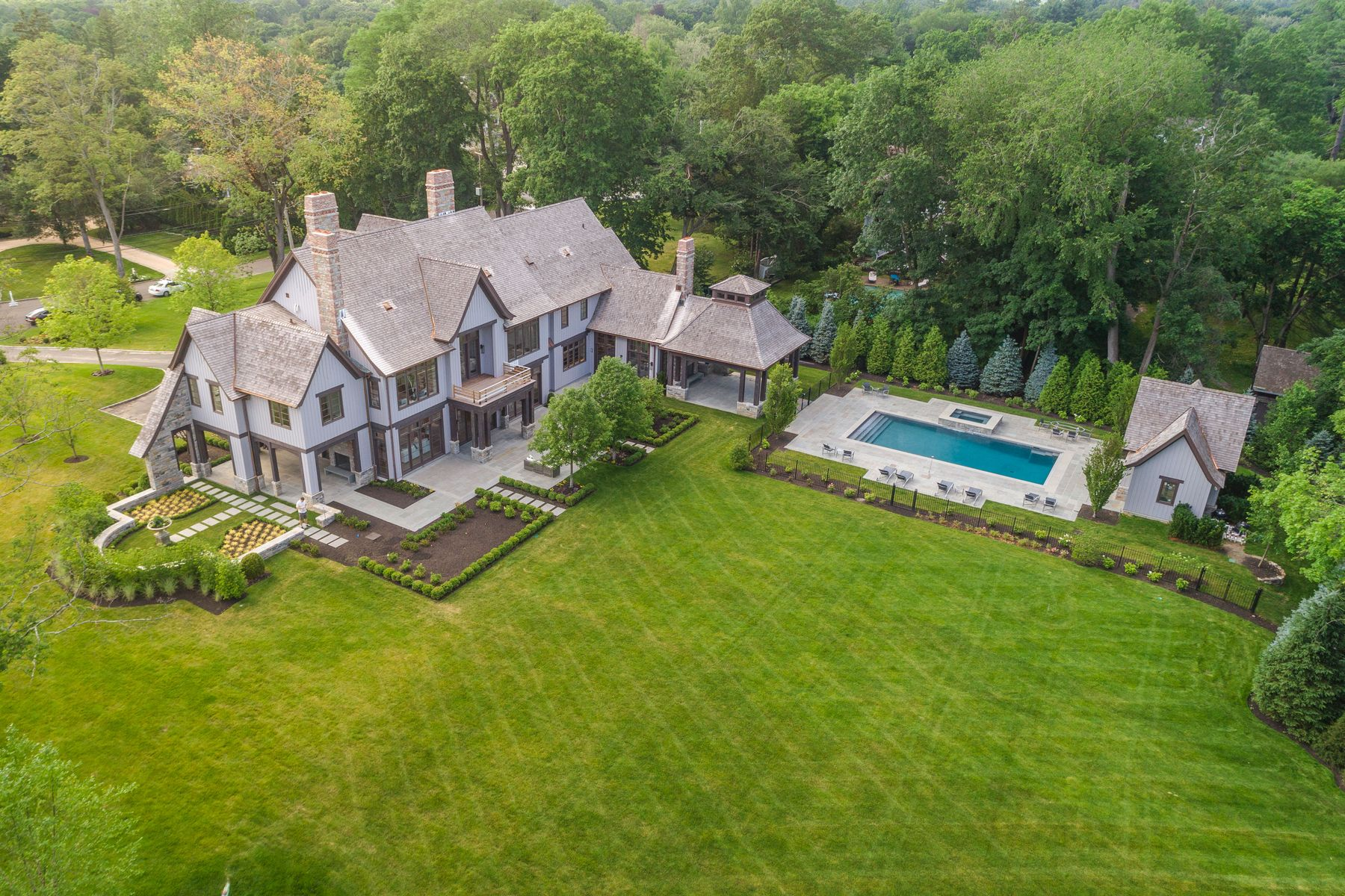 Single Family Homes for Sale at In-Town New Construction 19 Meadow Drive Greenwich, Connecticut 06830 United States