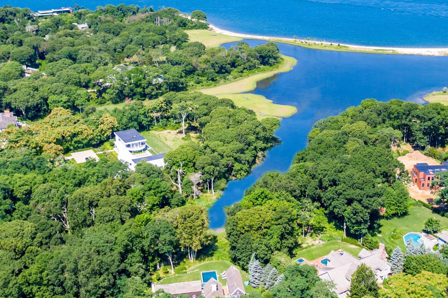 Single Family Homes för Försäljning vid SAG HARBOR WATERFRONT COMPOUND RETREAT 11 & 15 Ezekills Hollow, Sag Harbor, New York 11963 Förenta staterna