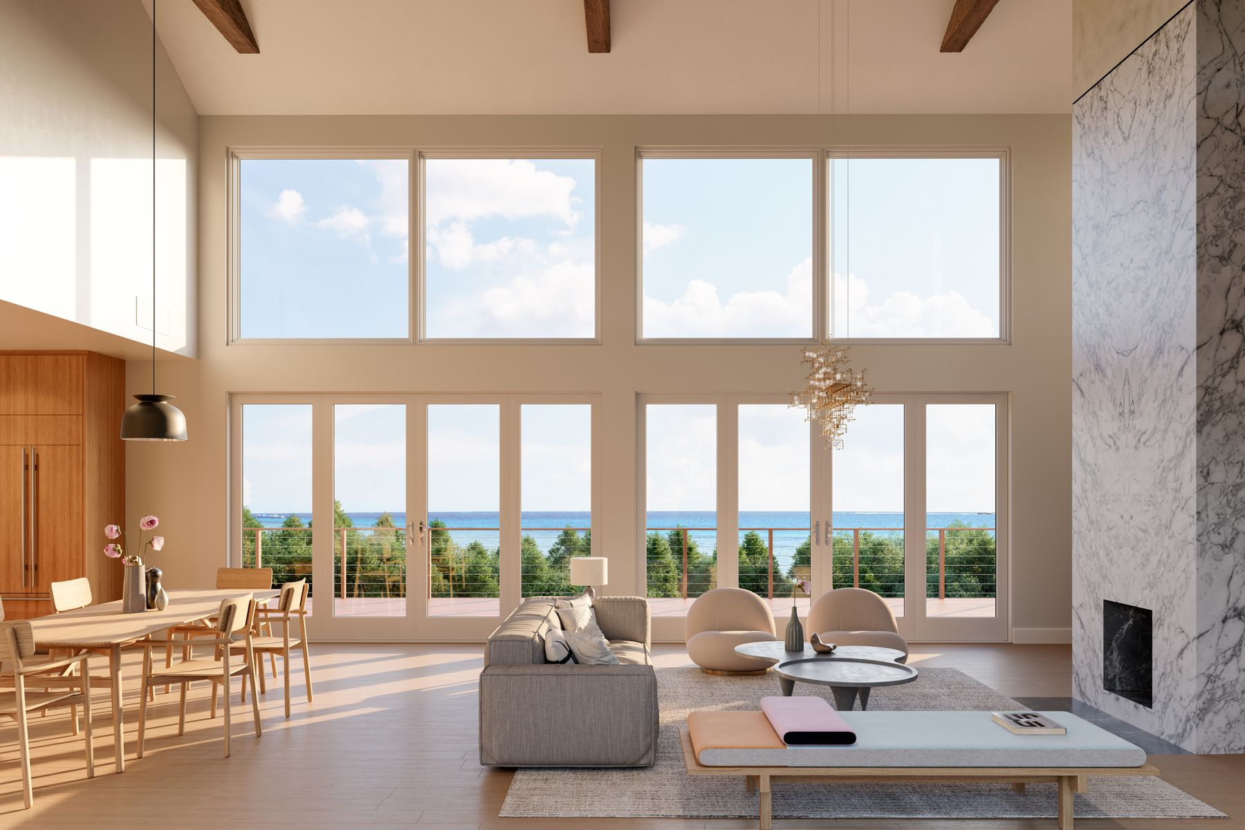 Single Family Homes for Active at ATELIER 211 OCEAN VIEW COTTAGE 211 Bluff Road Amagansett, New York 11930 United States