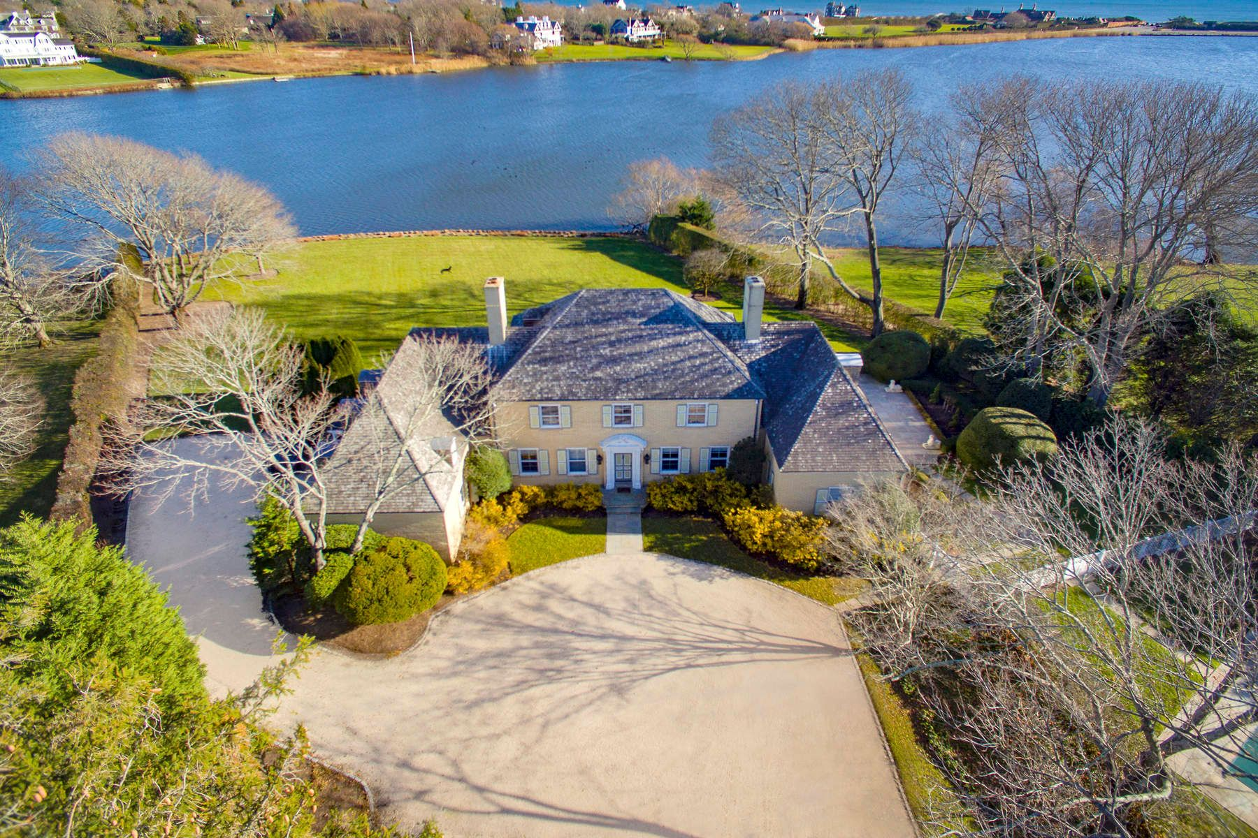 Single Family Homes for Sale at Lake Agawam Estate 310 First Neck Lane Southampton, New York 11968 United States