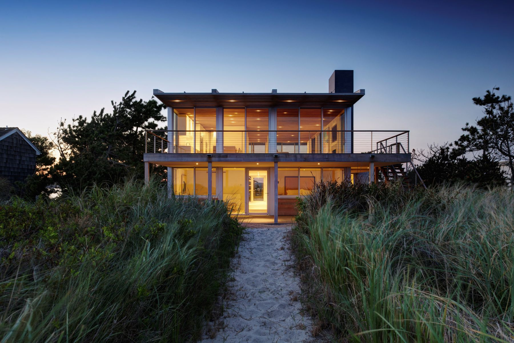 Villa per Affitto alle ore Modern Beach House Water Mill 1271 Flying Point Road Water Mill, New York 11976 Stati Uniti