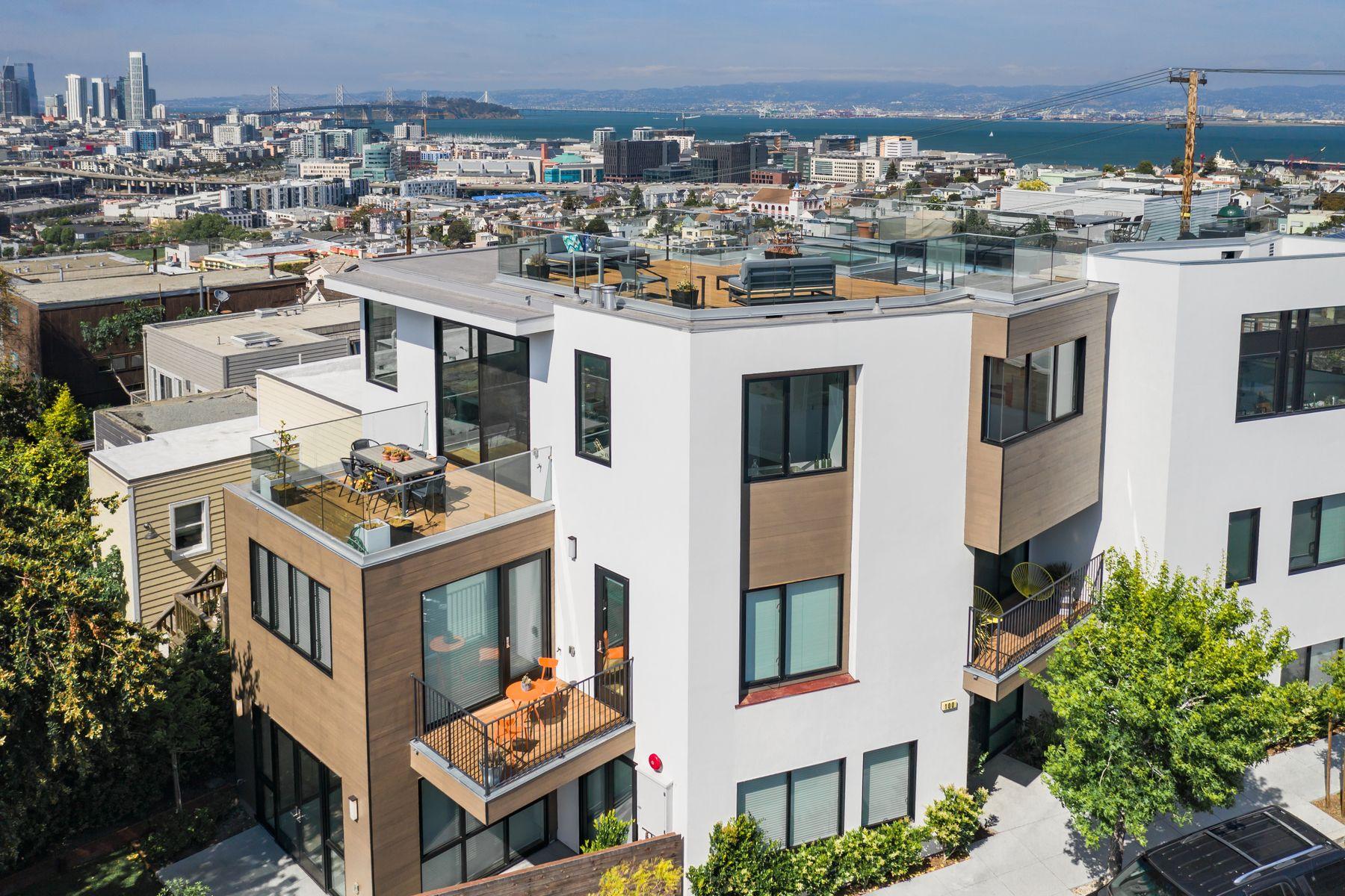 townhouses por un Venta en Sweeping City and Bay Views 100 Southern Heights Ave San Francisco, California 94107 Estados Unidos