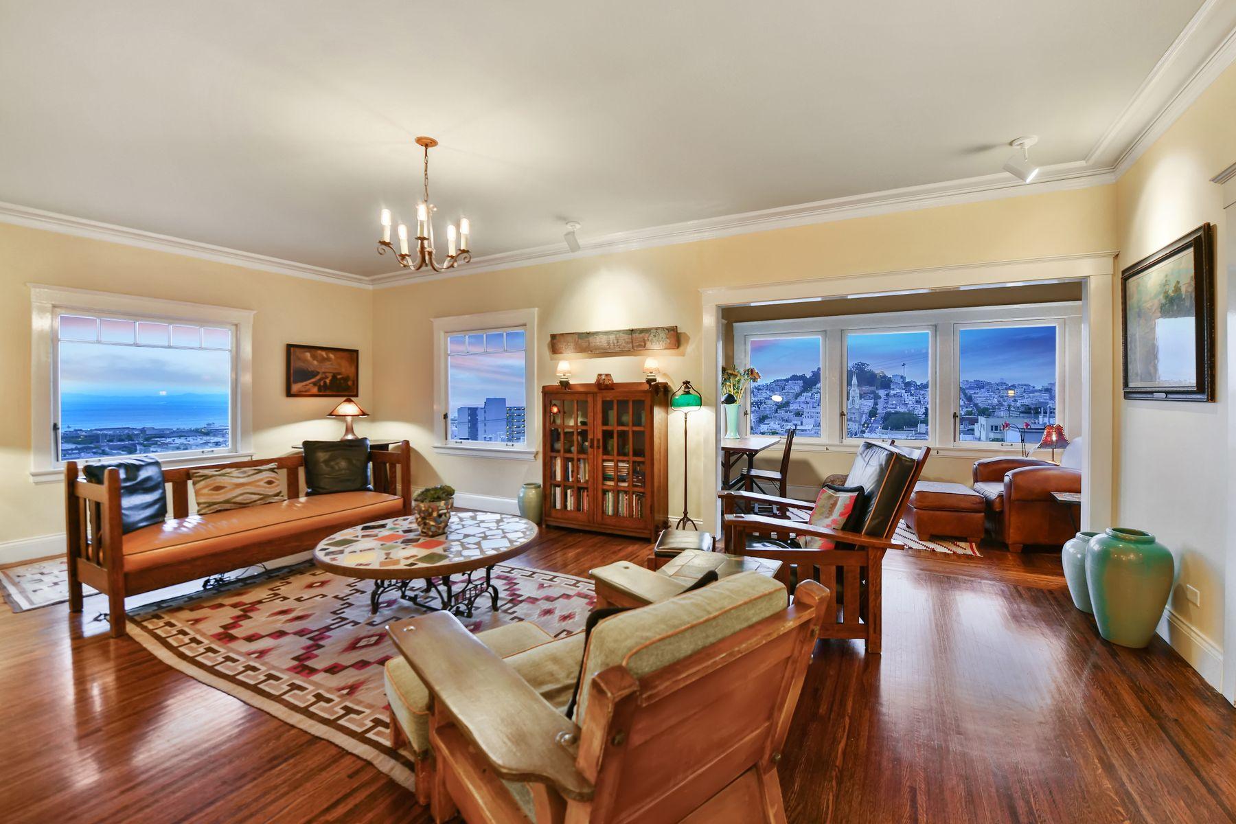 Co-op Properties por un Venta en Panoramic View Russian Hill Apartment 1020 Union St Apt 14 San Francisco, California 94133 Estados Unidos