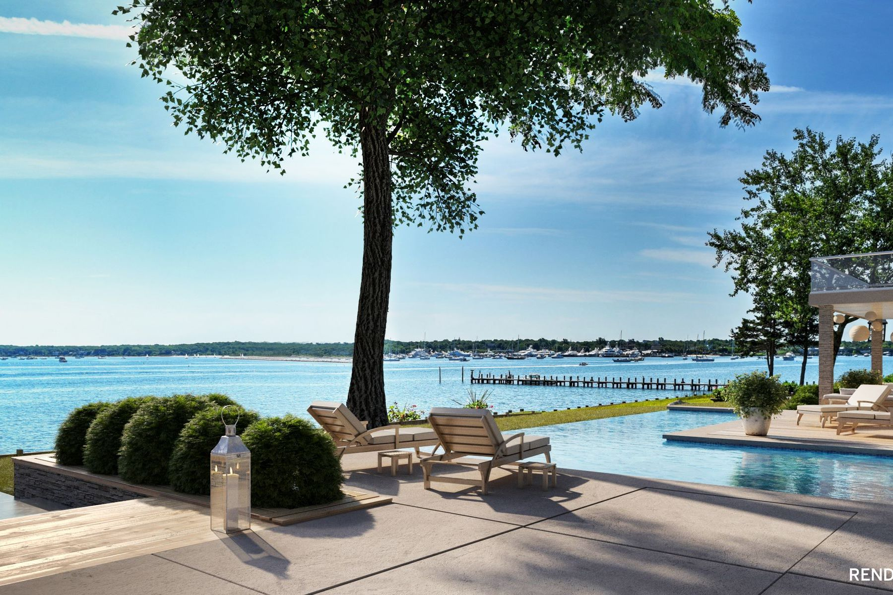 Single Family Homes for Sale at Extraordinary Waterfront Dream Property 24 East Harbor Drive Sag Harbor, New York 11963 United States