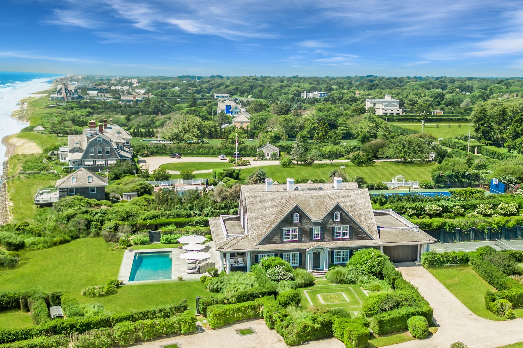 Single Family Homes for Sale at Gin Lane Oceanfront 366 Gin Lane Southampton, New York 11968 United States