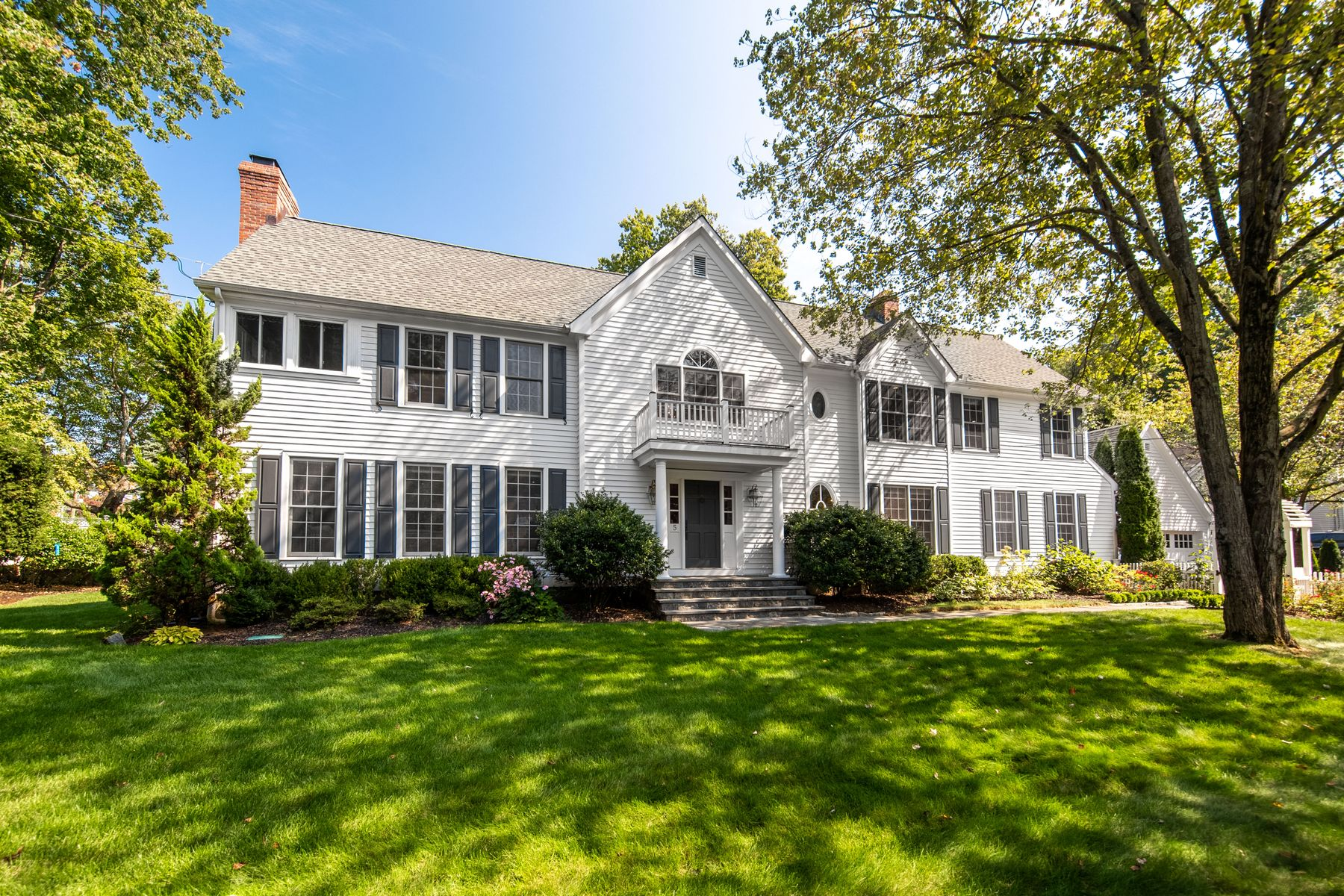 Single Family Homes for Sale at Classic Colonial in Riverside 5 Verona Drive Riverside, Connecticut 06878 United States