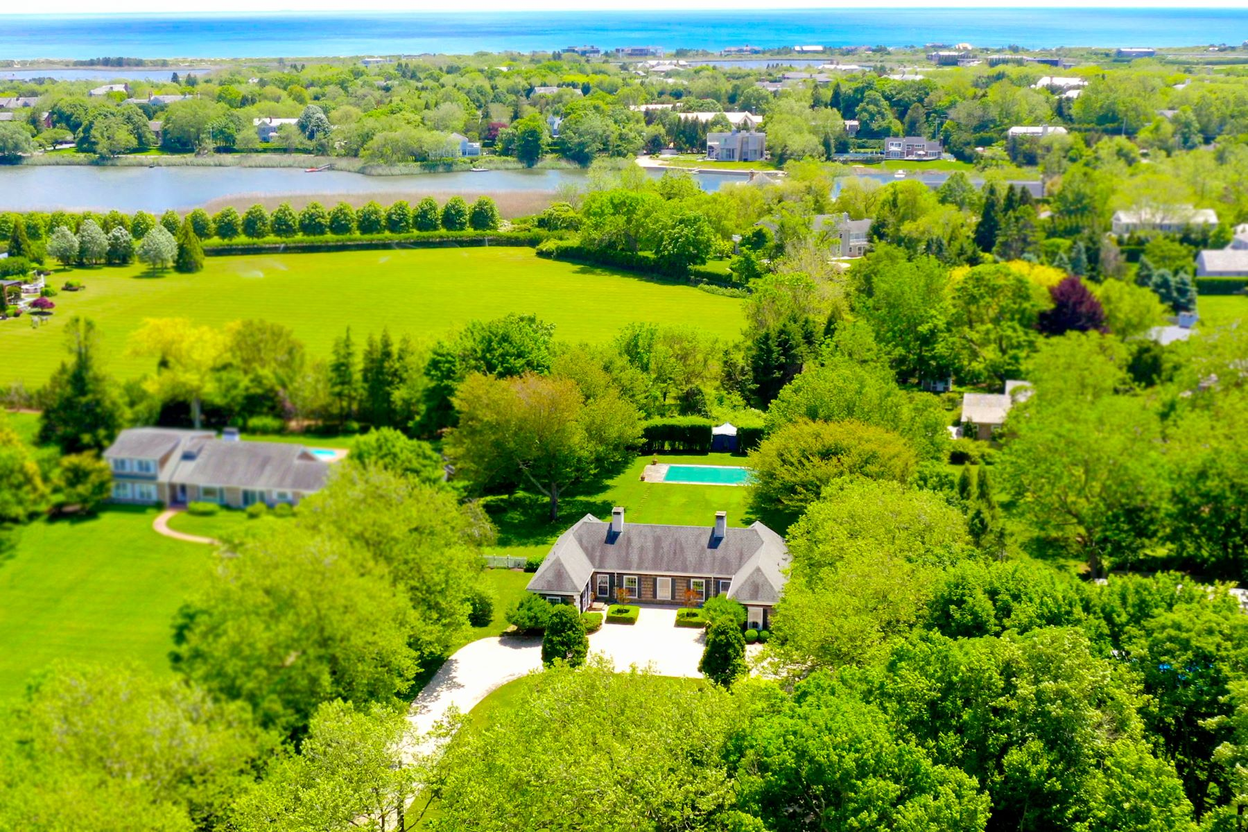 Single Family Homes for Sale at Bucolic Cobb Isle, Water Mill 12 Cobb Isle Road Water Mill, New York 11976 United States
