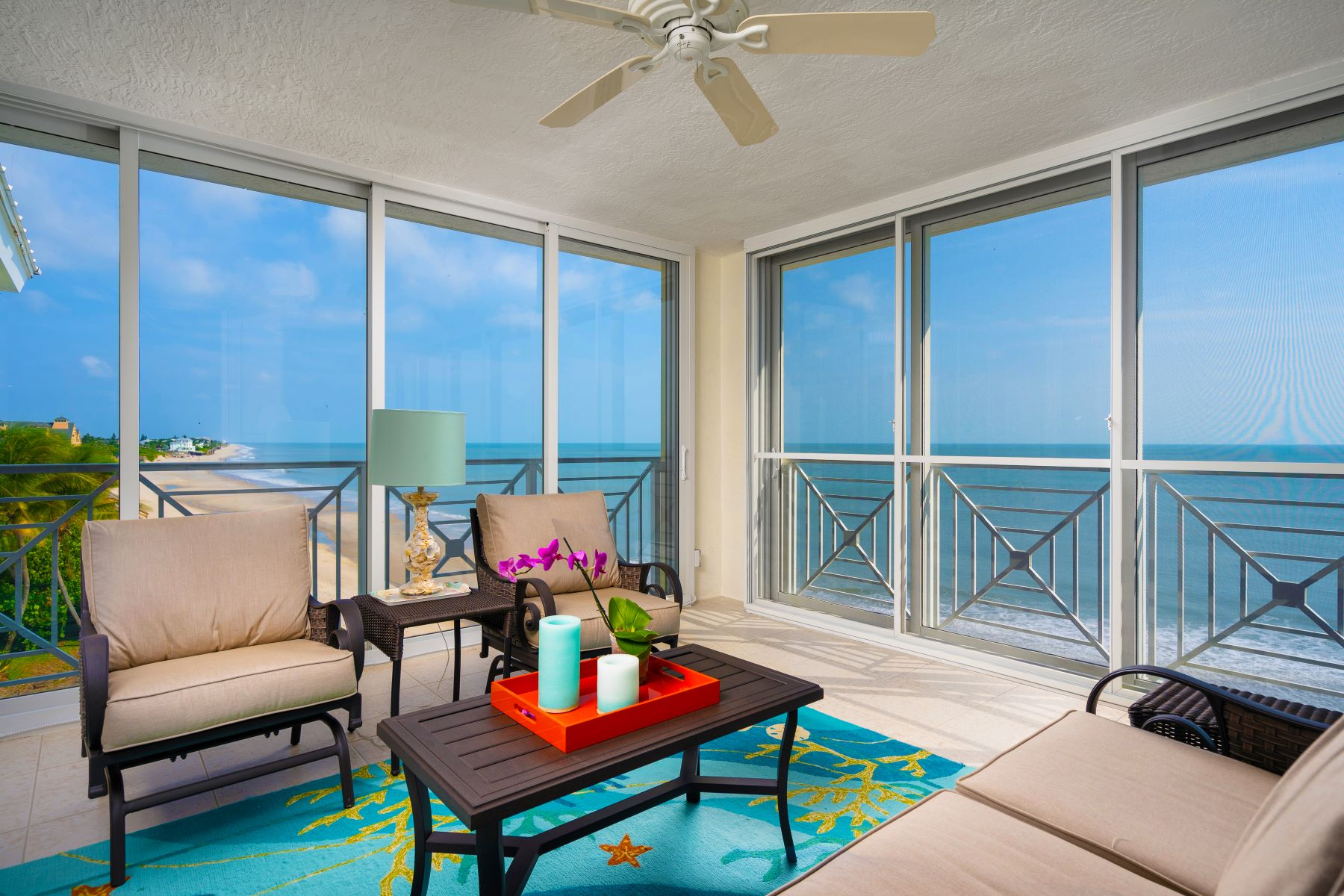 Property for Sale at Stunning Oceanfront Four Bedroom Top Floor Condo 8890 Sea Oaks Way 105 Vero Beach, Florida 32963 United States