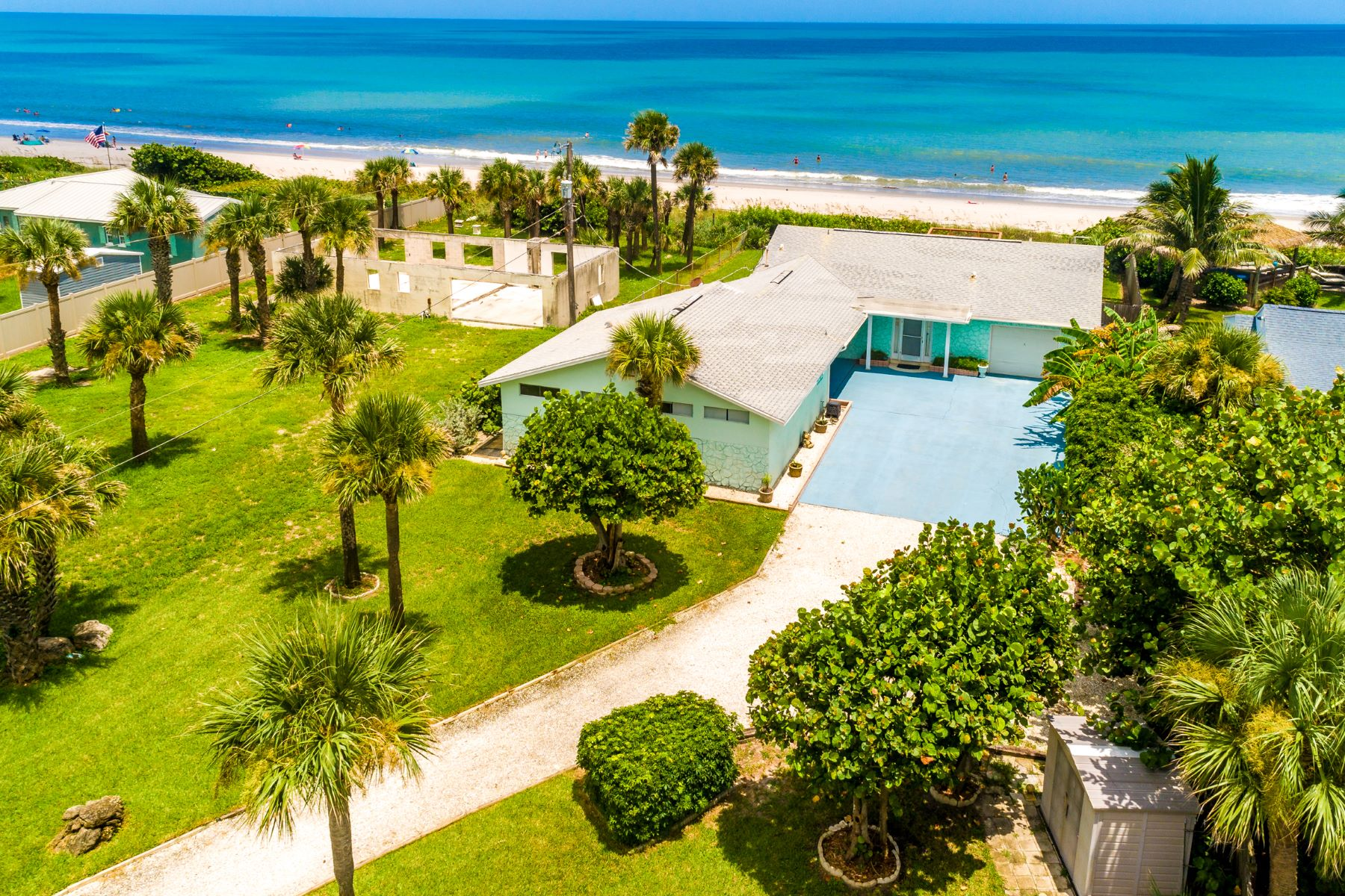 Single Family Homes for Sale at Oceanfront Home in Ultra Convenient Stretch of Coast 2115 N Highway A1A Indialantic, Florida 32903 United States