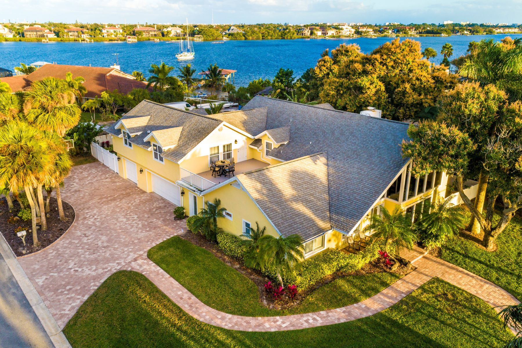 Single Family Homes for Sale at Incredible Riverfront Pool Home 5 Windjammer Point Merritt Island, Florida 32952 United States