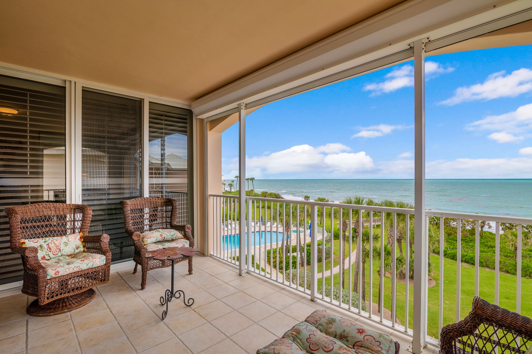 Single Family Homes for Sale at Top Floor Oceanfront Condo 8866 N Sea Oaks Way 212 Vero Beach, Florida 32963 United States