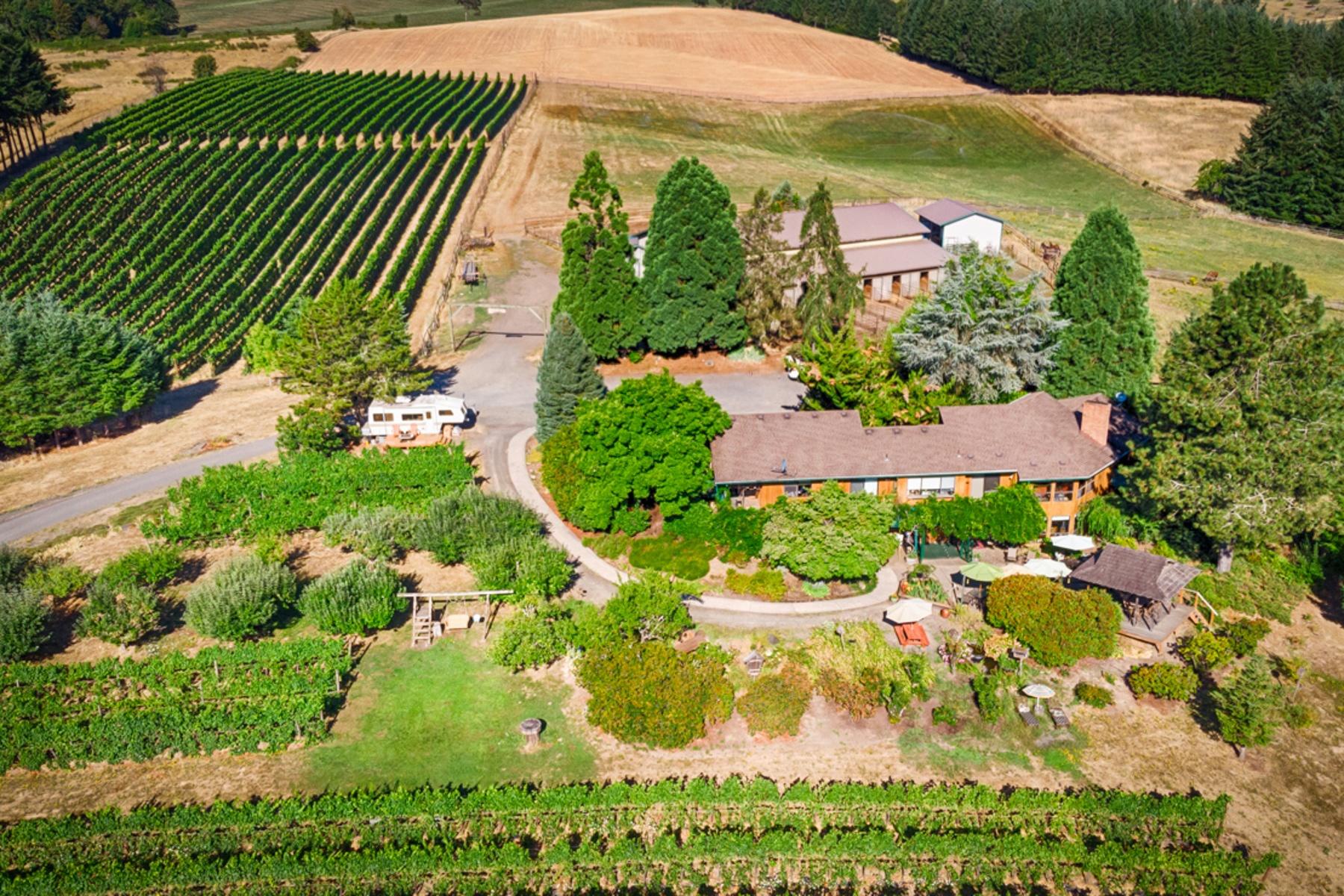 Ferme / Ranch / Plantation pour l Vente à 5195 SW HERGERT RD Cornelius, OR 97113 Cornelius, Oregon 97113 États-Unis