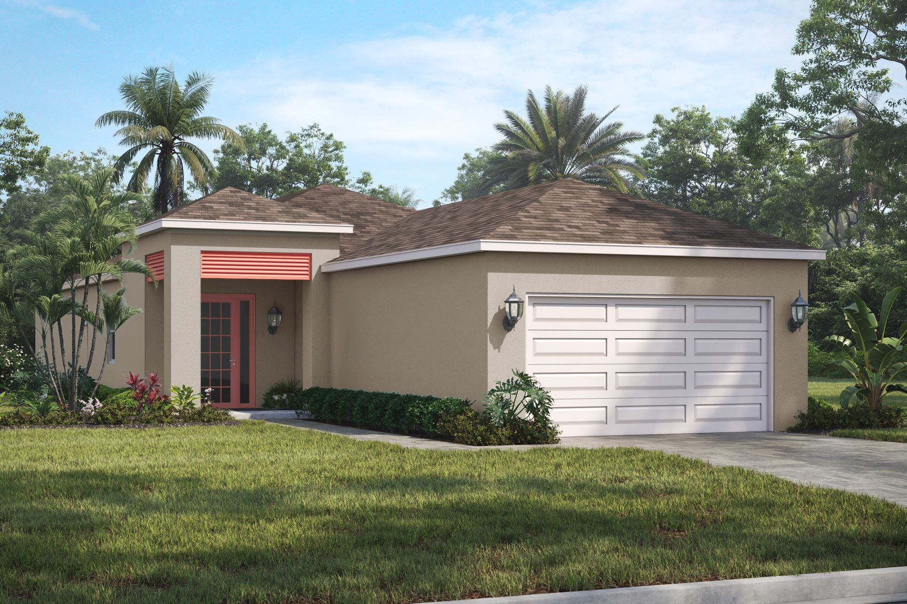 Single Family Homes для того Продажа на New Falls III Model! 2152 Falls Manor Vero Beach, ??????? 32967 ??????????? ?????