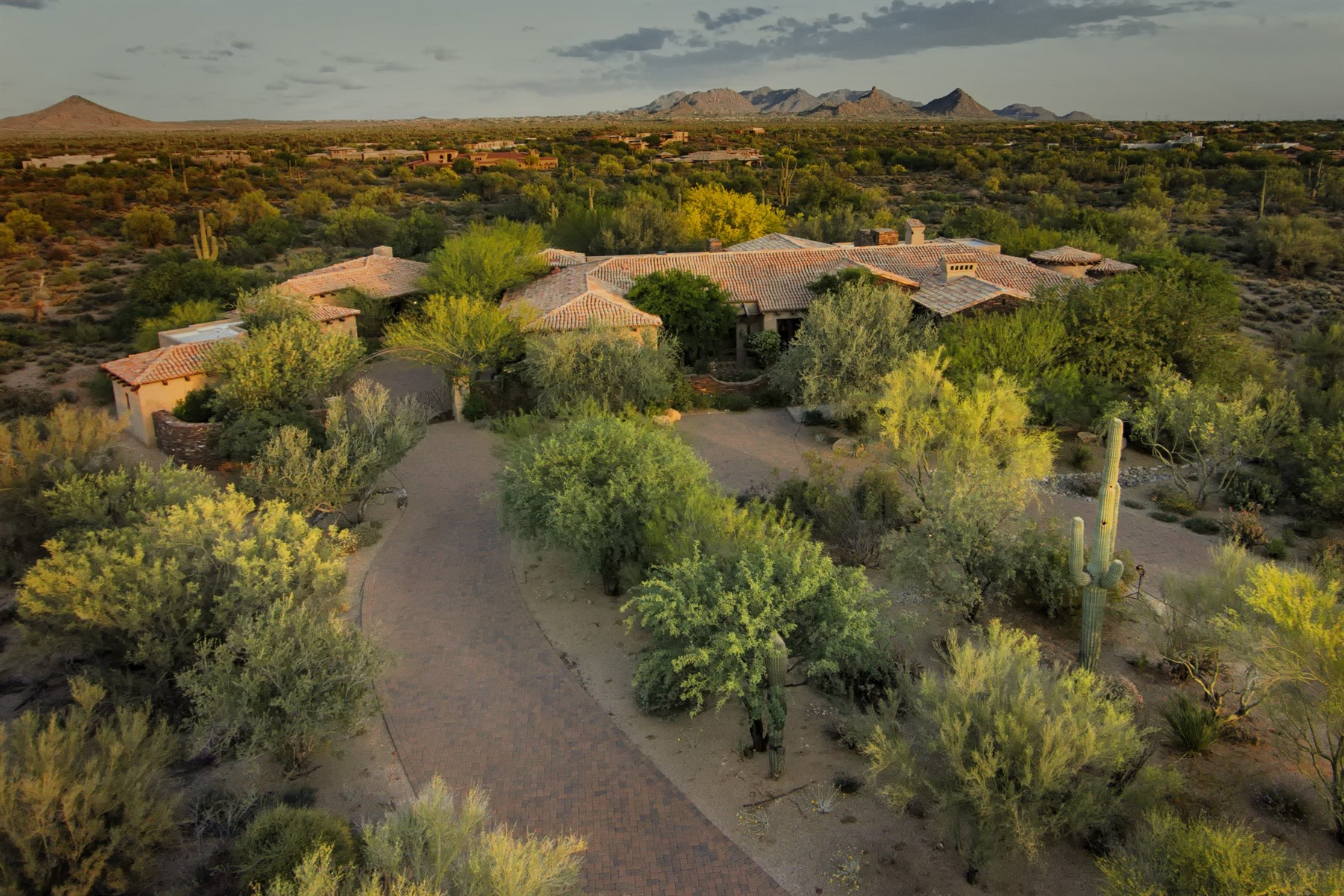 Property For Sale at Timeless and elegant family estate on three acres in Whisper Rock Estates.