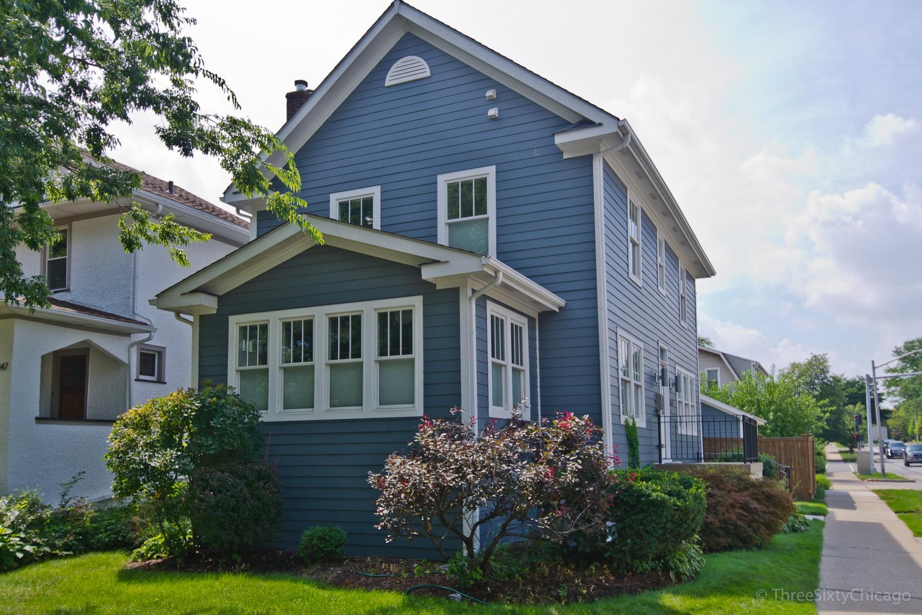 Casa para uma família para Venda às Beautiful High-End Contemporary Home 307 Division Street, Oak Park Oak Park, Illinois, 60302 Estados Unidos