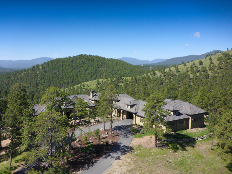 Maison unifamiliale pour l Vente à 1295 Silver Rock Lane Evergreen, Colorado 80439 États-Unis