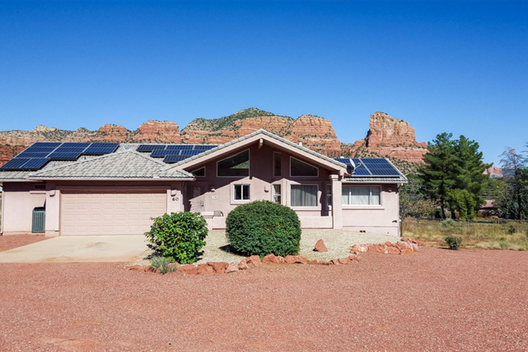 Moradia para Venda às A Full Fenced Acre with Panoramic Red Rock and Mountain Views 60 Tilley Lane Sedona, Arizona 86351 Estados Unidos