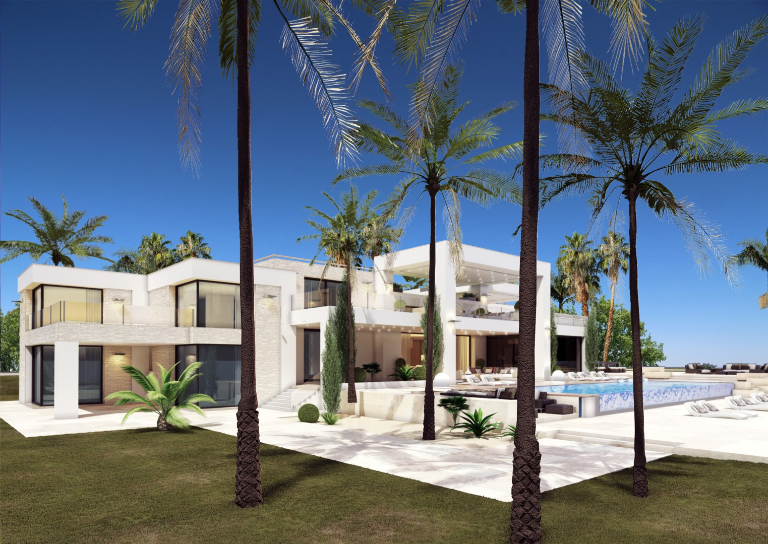 단독 가정 주택 용 매매 에 A truly jewel of villa at beachfront New Golden Mile Estepona, Costa Del Sol 29680 스페인