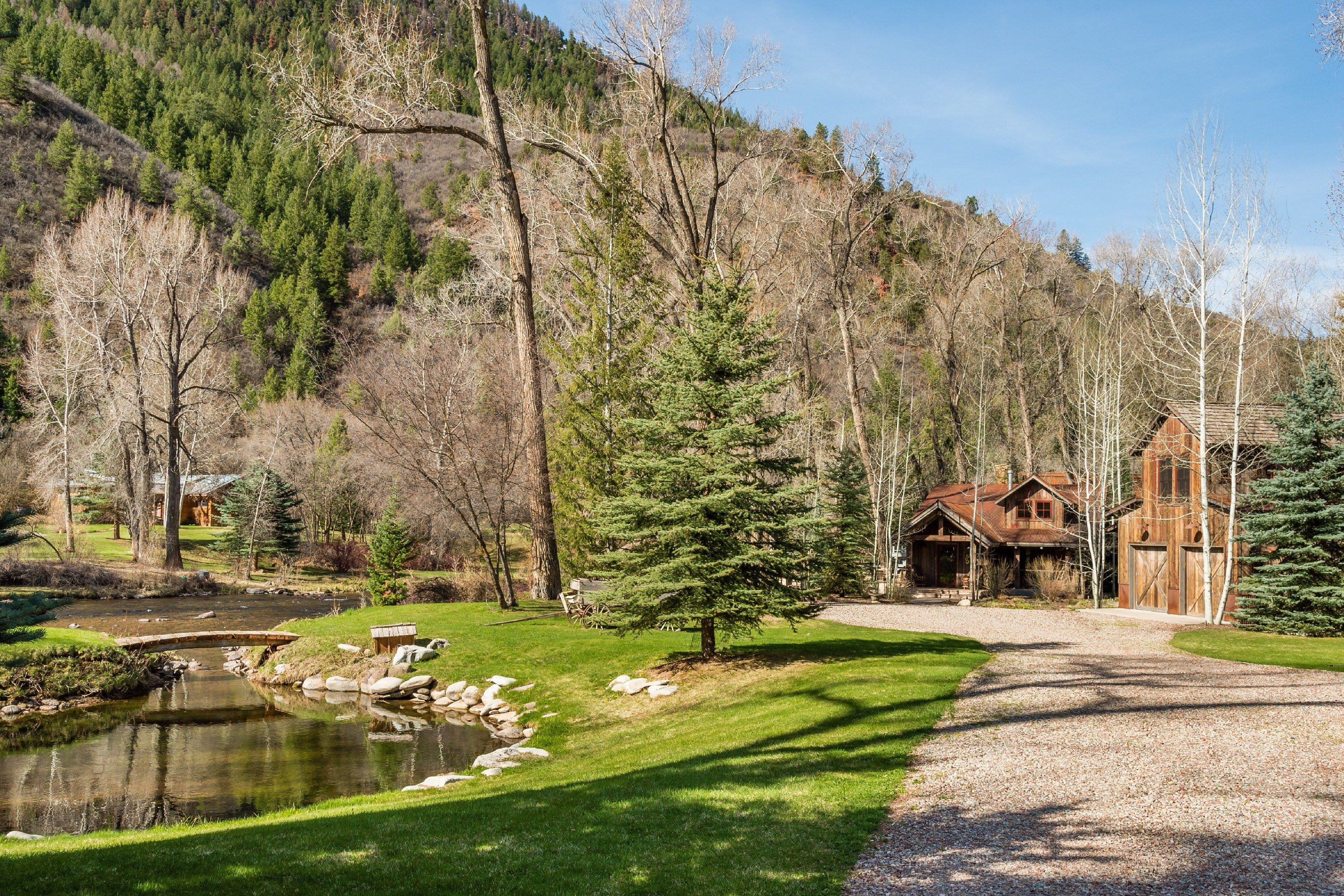 Single Family Home for Sale at Riverfront Property on the Frying Pan 23 Peachblow Road Basalt, Colorado, 81621 United States