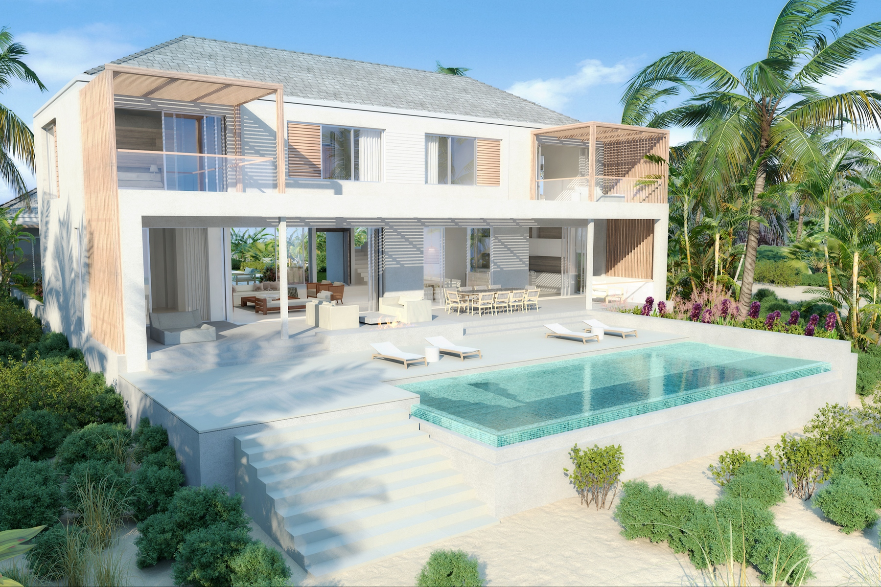 Casa Unifamiliar por un Venta en BEACH ENCLAVE LONG BAY - Design Two Beachfront Long Bay, Providenciales TCI Islas Turcas Y Caicos
