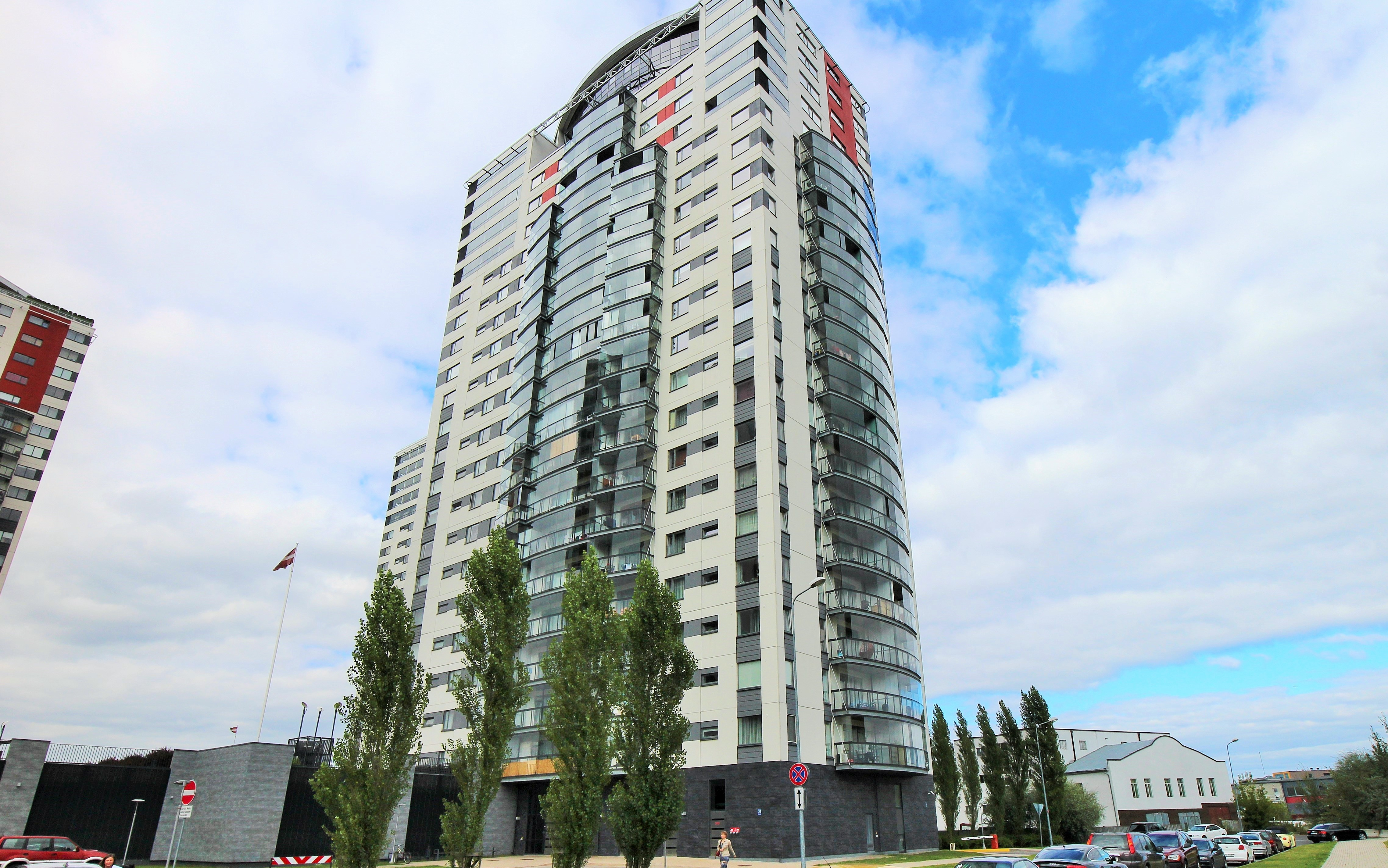 Property For Sale at Exclusive apartment with a terrace in Skanstes virsotnes development in Riga