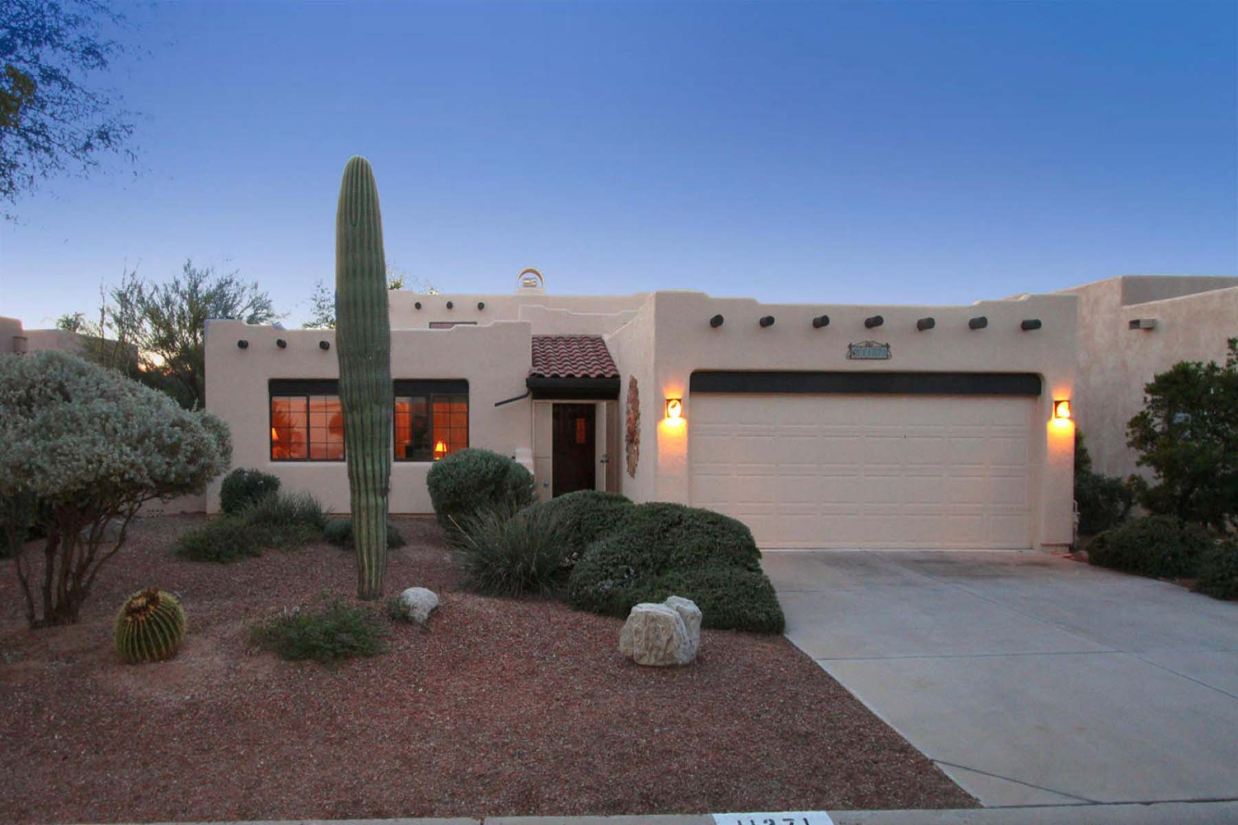 Property For Sale at Beautifully Nestled Santa Fe Home In Oro Valley.