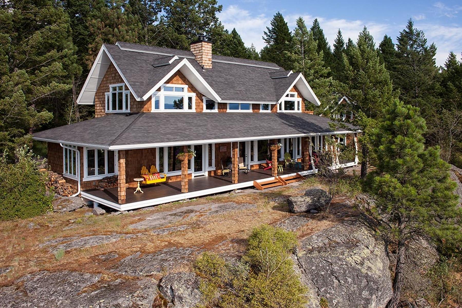 Tek Ailelik Ev için Satış at Top of the Mountain 650 Hogue Drive Bigfork, Montana, 59911 Amerika Birleşik Devletleri