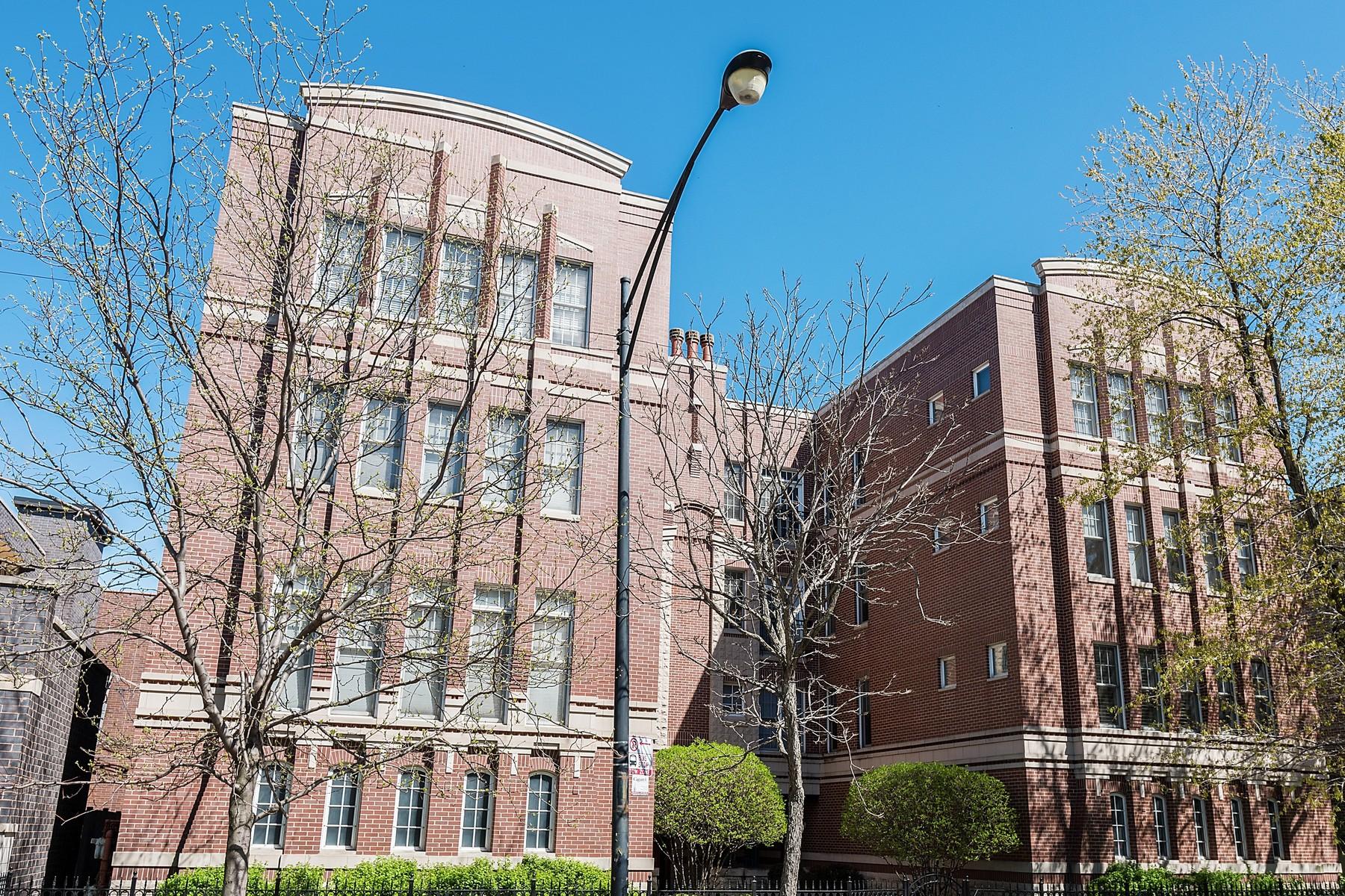 Maison unifamiliale pour l Vente à Beautiful Sunny Condo 3845 N Ashland Avenue Unit 2B Chicago, Illinois, 60613 États-Unis