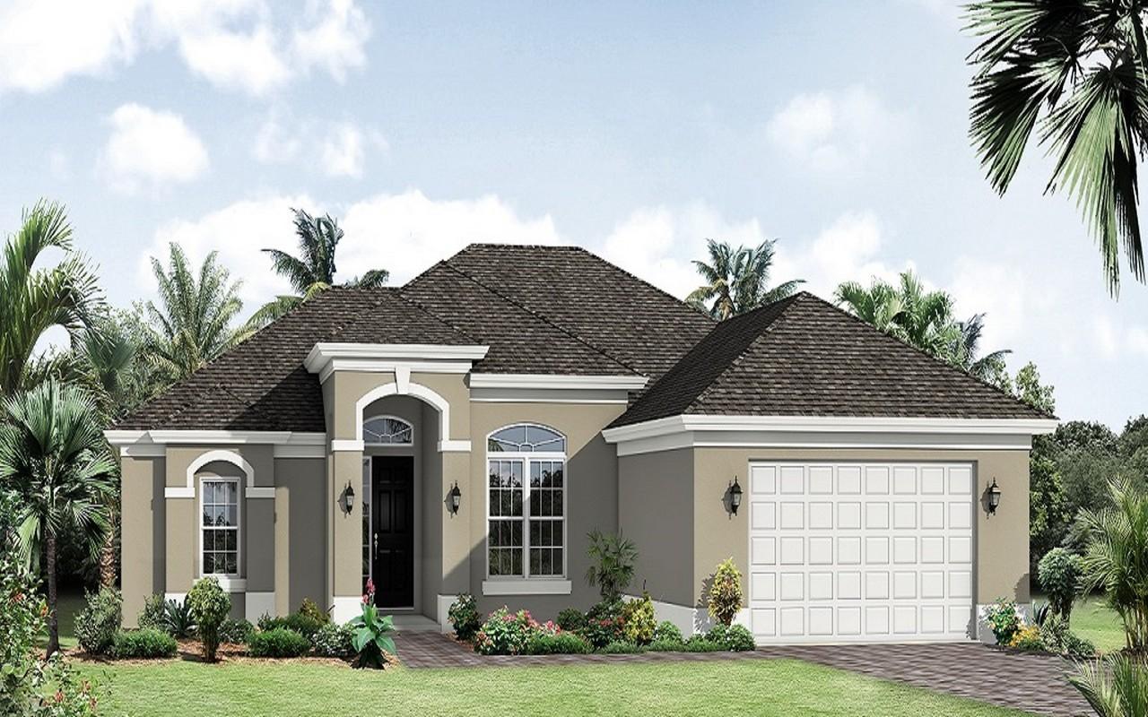 Casa para uma família para Venda às Amberjack Model Home 6147 NW Gaylord Terr Port St. Lucie, Florida, 34986 Estados Unidos