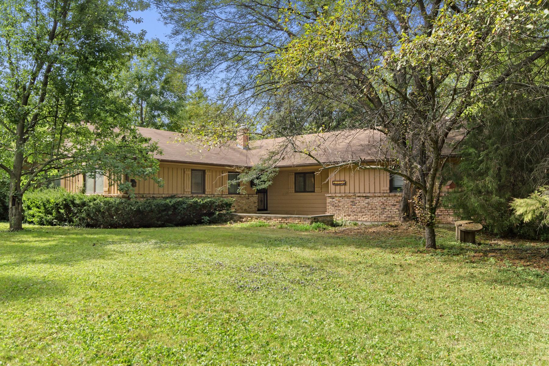 Maison unifamiliale pour l Vente à Expanded Ranch 1930 Strenger Lane Riverwoods, Illinois, 60015 États-Unis