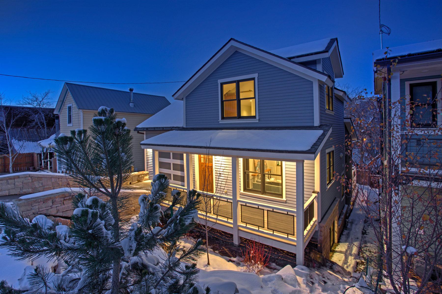 Maison unifamiliale pour l Vente à New Construction Old Town Tree House 912 Norfolk Ave Park City, Utah 84060 États-Unis