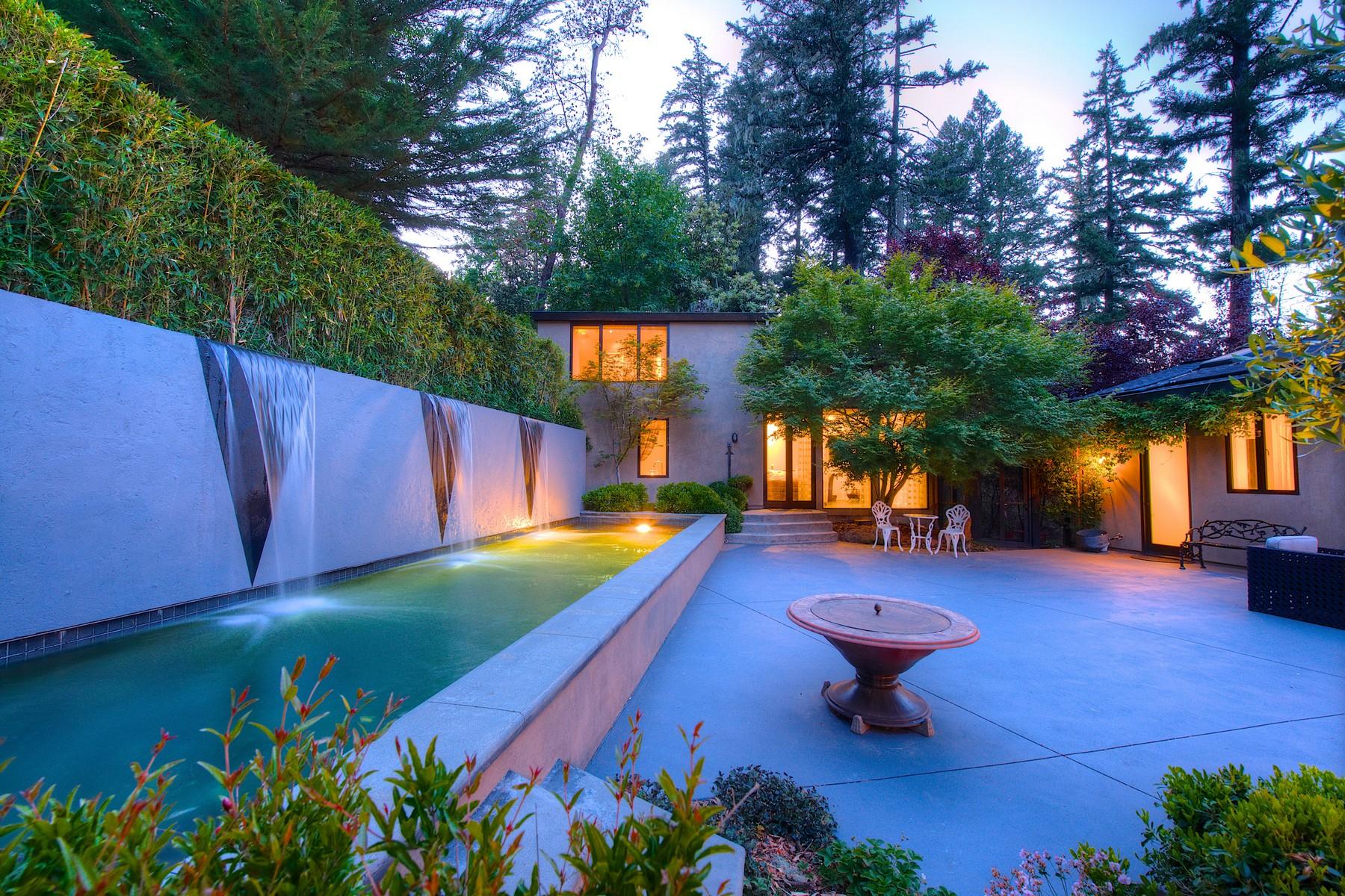 獨棟家庭住宅 為 出售 在 Country Residence 12 Meadow View Lane San Geronimo, 加利福尼亞州 94963 美國