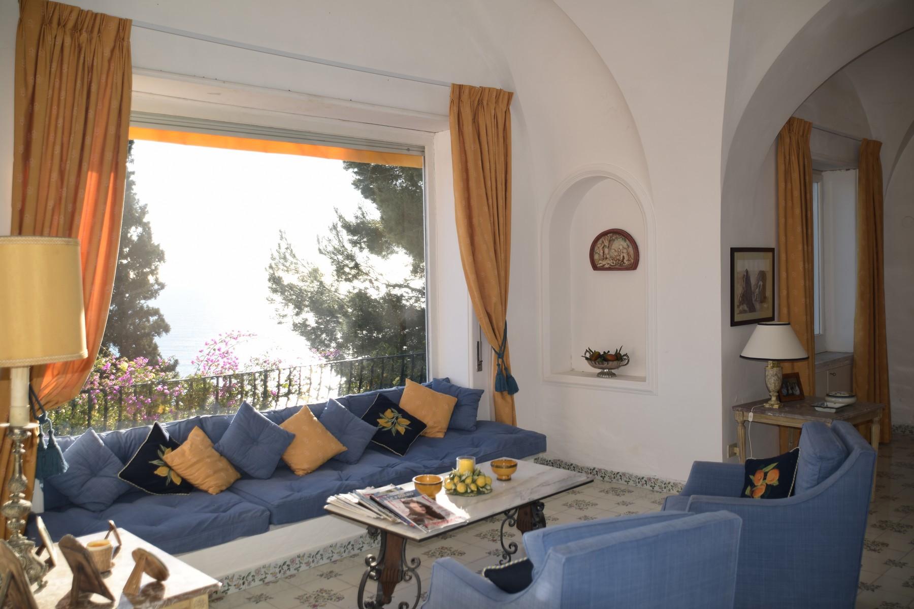 Additional photo for property listing at Beautiful villa in Capri overlooking the Faraglioni Capri, Naples Italy