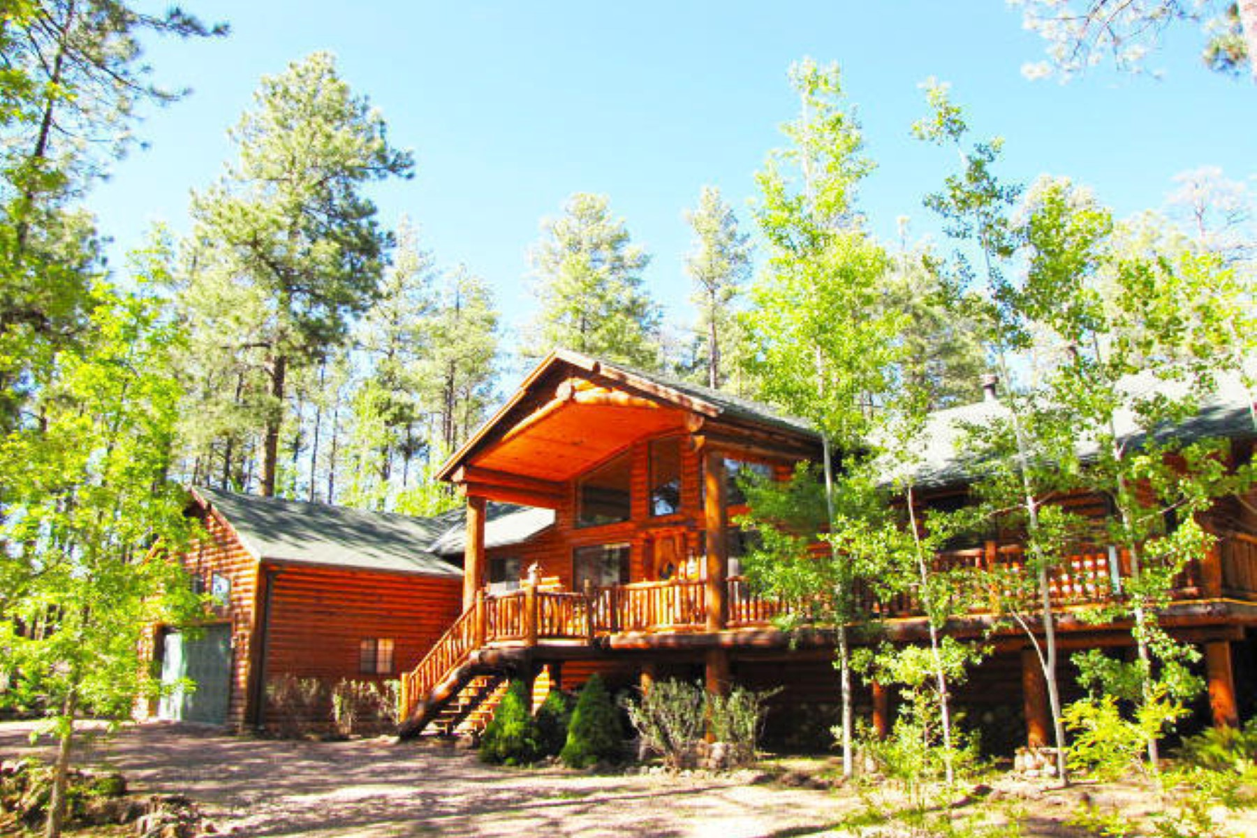 sales property at Highly upgraded fabulous cabin on .72 acres in White Mountain Summer Homes.