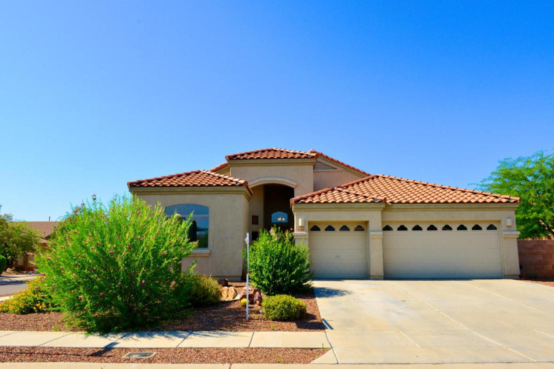 獨棟家庭住宅 為 出售 在 Four bed/two bath with oversized three car garage in Black Horse Ranch. 15001 N Rugged Lark Drive Tucson, 亞利桑那州 85739 美國