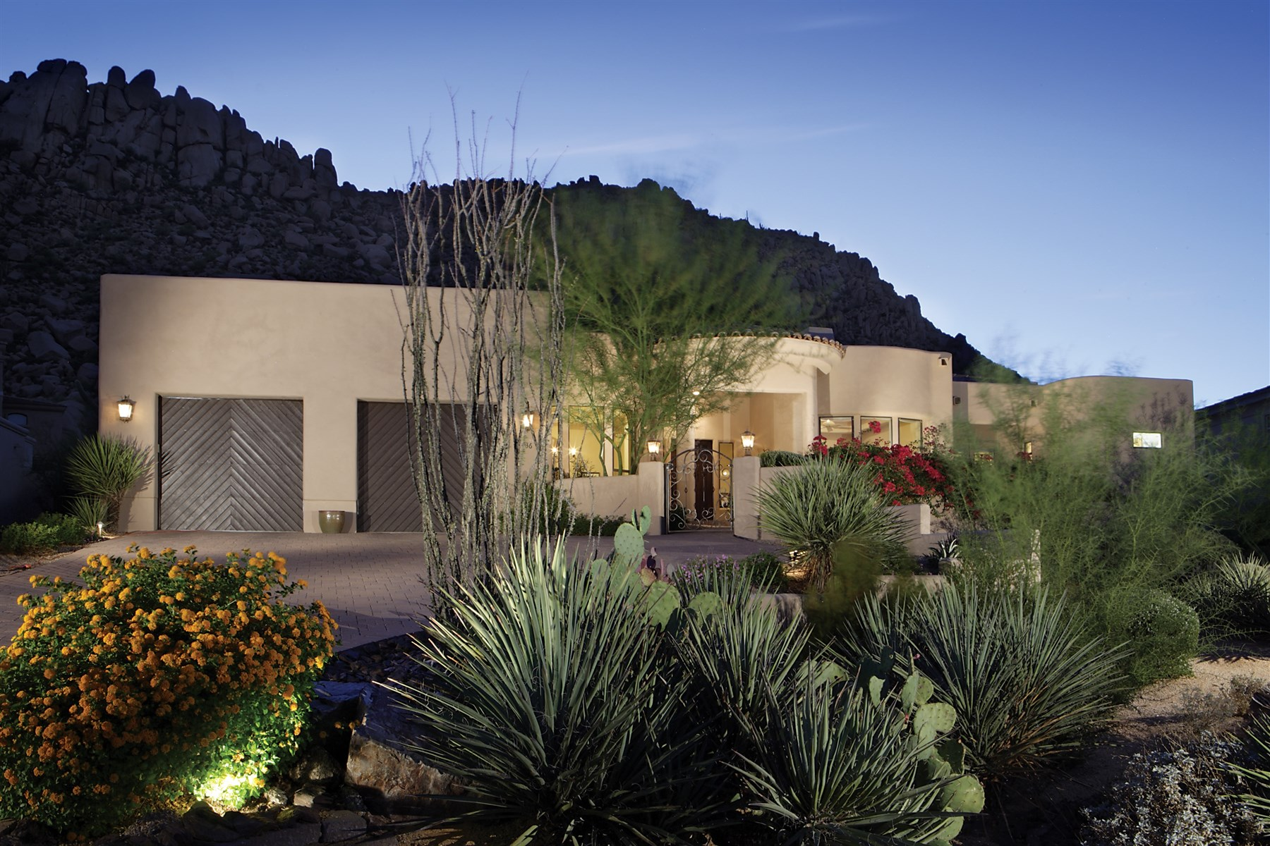 Property For Sale at pectacular Mountain Views In the 24 Hr Guard Gated Troon Village Custom Home